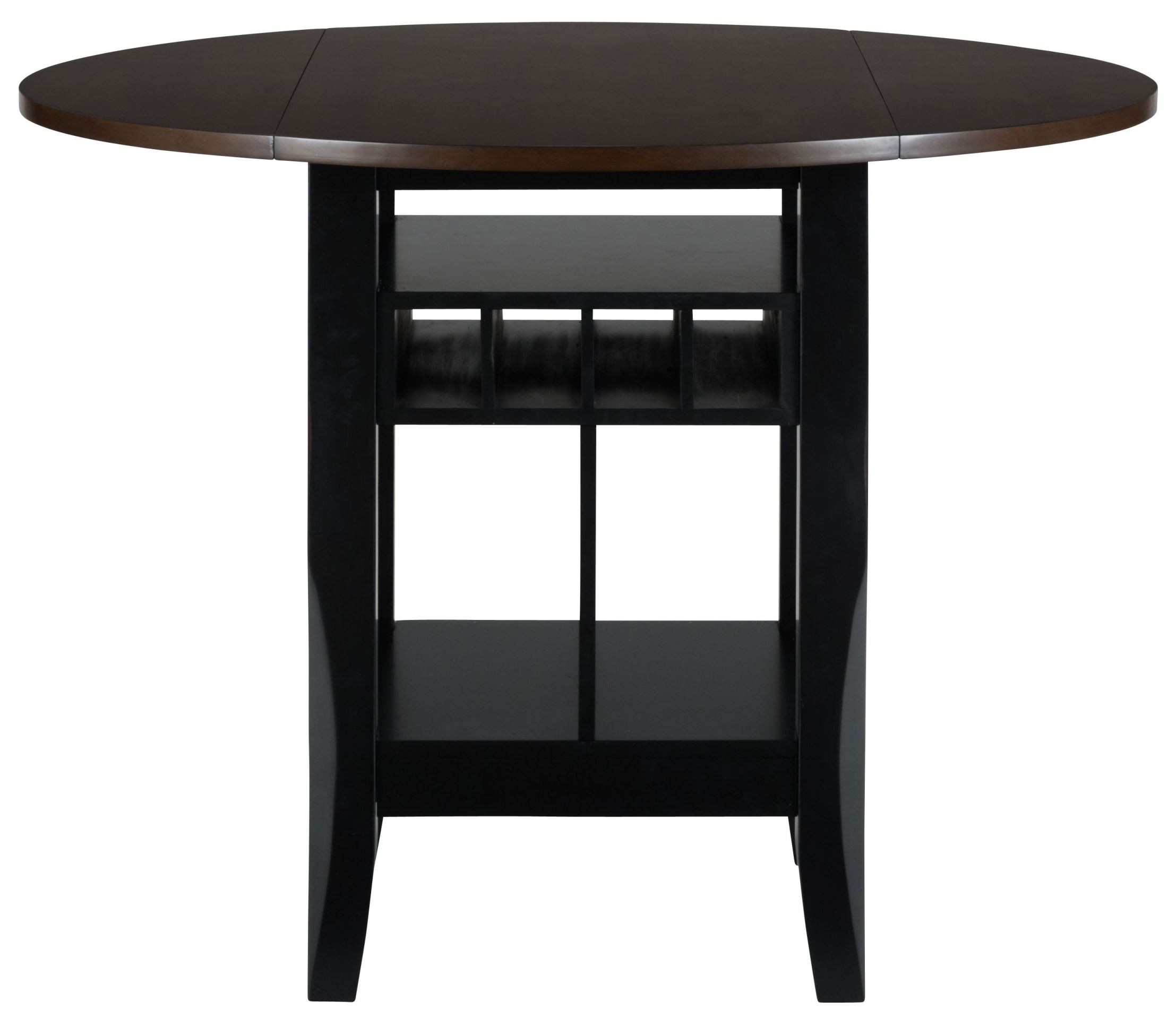 Braden Antique Black 48quot Round Extendable Drop Leaf  : 272 48front from colemanfurniture.com size 2200 x 1952 jpeg 164kB