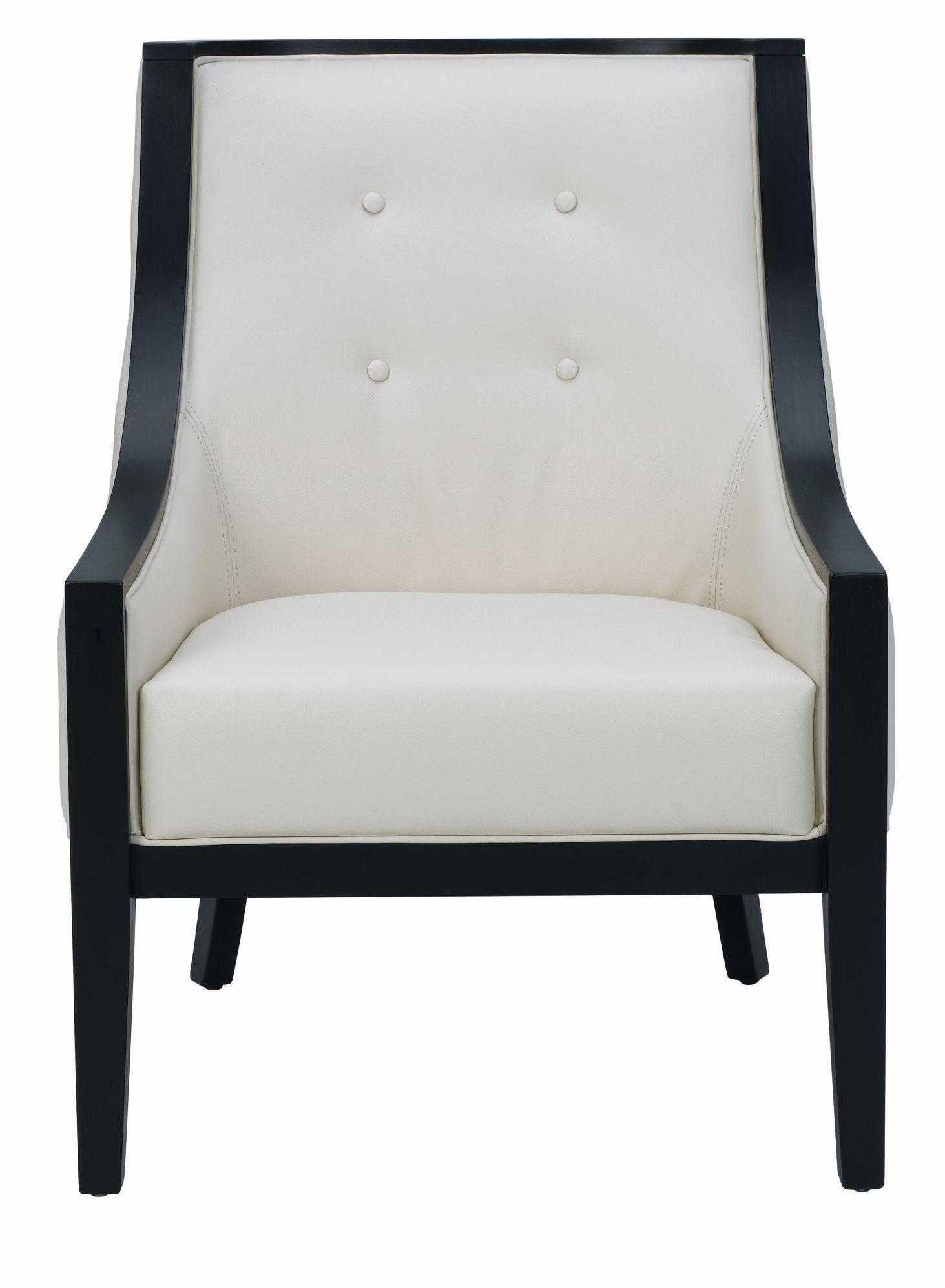 Cyrano cream leather arm chair from sunpan 27233 for Cream armchair
