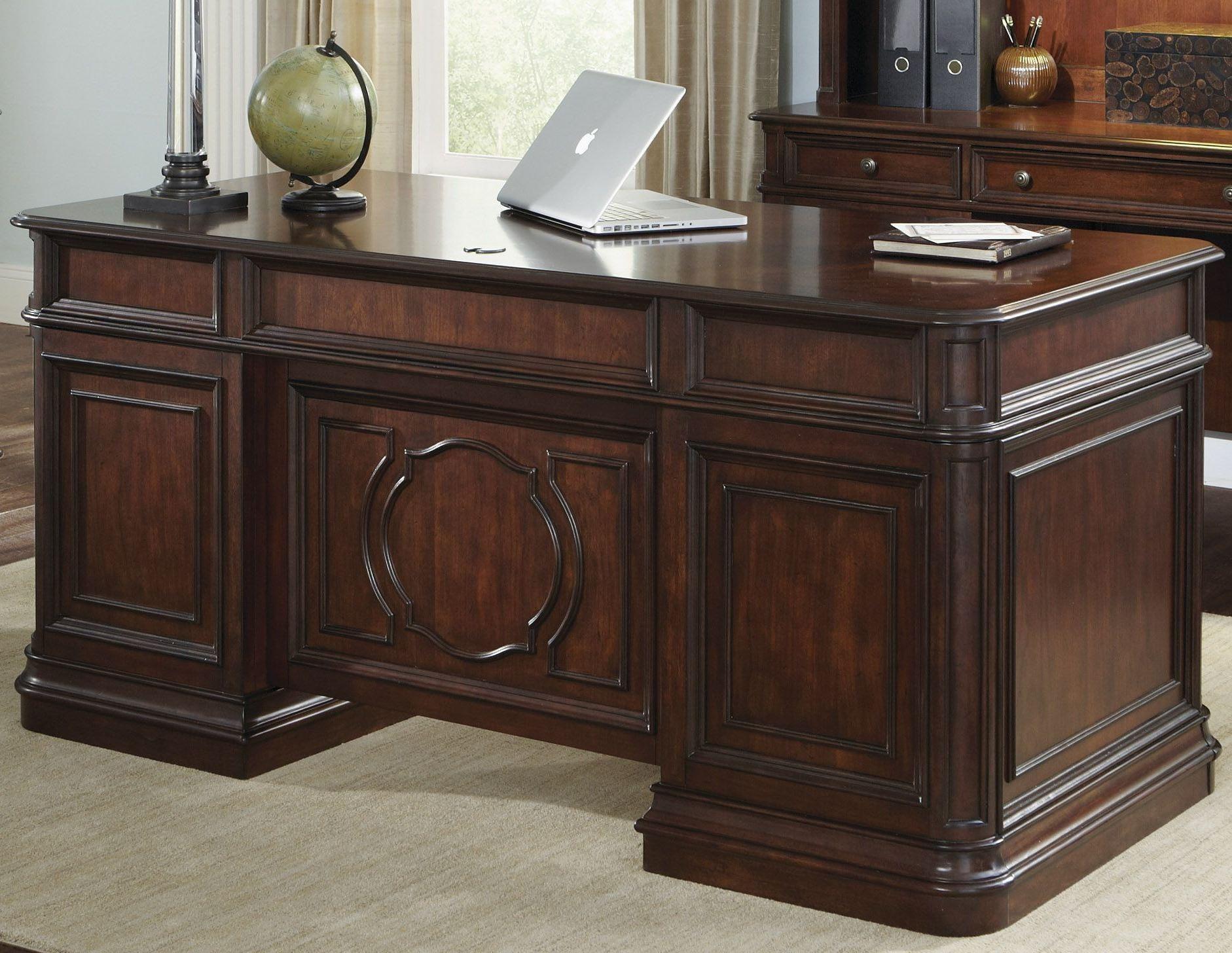 Brayton Manor Cognac Jr Executive Desk From Liberty 273