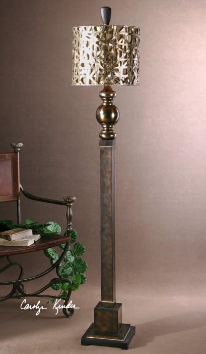 Alita Champagne Floor Lamp, 28062-1, Lamps