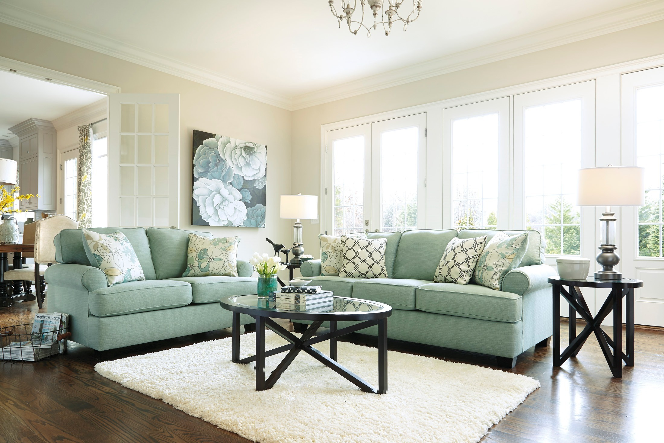 Kylee Lagoon Living Room Set Daystar Living Room Set From Ashley 28200 38 35 Coleman Furniture