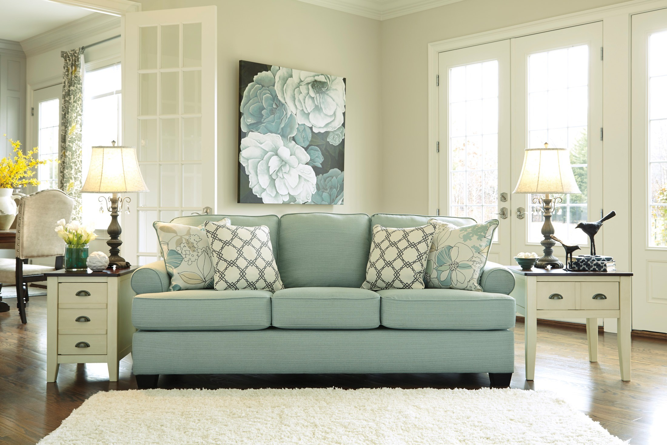 Daystar Removable Seat Cushions Sofa From Ashley Kylee Lagoon Living Room Set