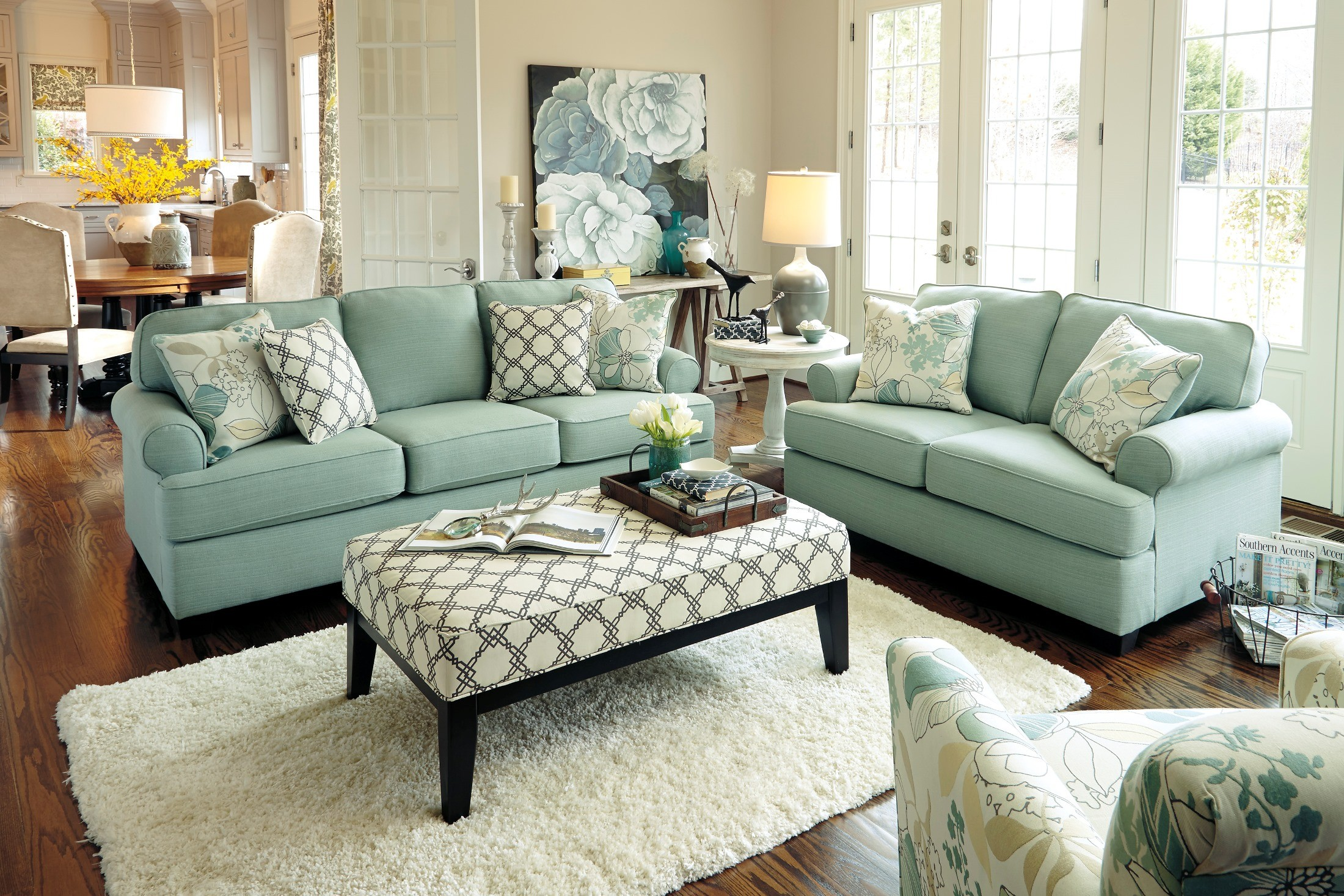 Awesome Daystar Loveseat From Ashley 2820035 Coleman Furniture . Kylee Lagoon  Living Room ... Part 15