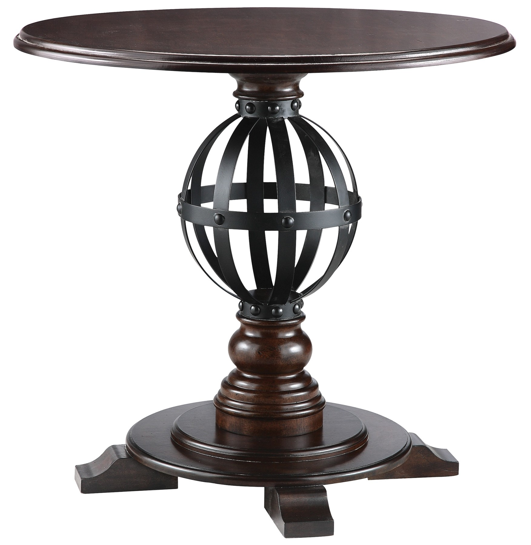 Round Accent Table With Metal Sphere 28247 Stein World