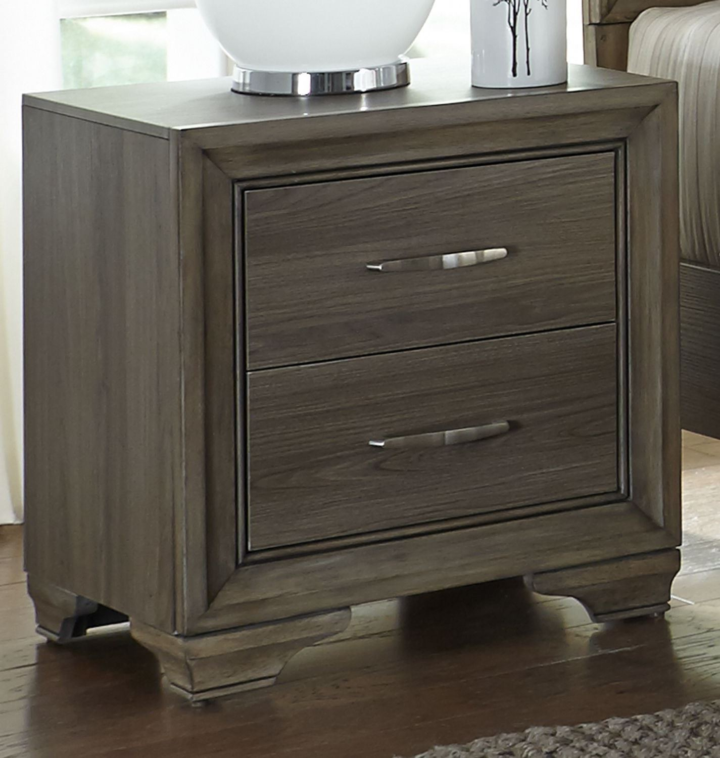 Hartly Gray Wash Youth Upholstered Panel Bedroom Set 283