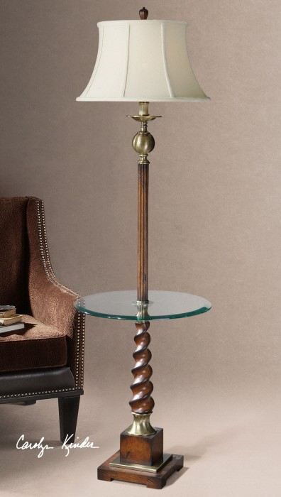 myron twist end table floor lamp from uttermost 28568 coleman. Black Bedroom Furniture Sets. Home Design Ideas