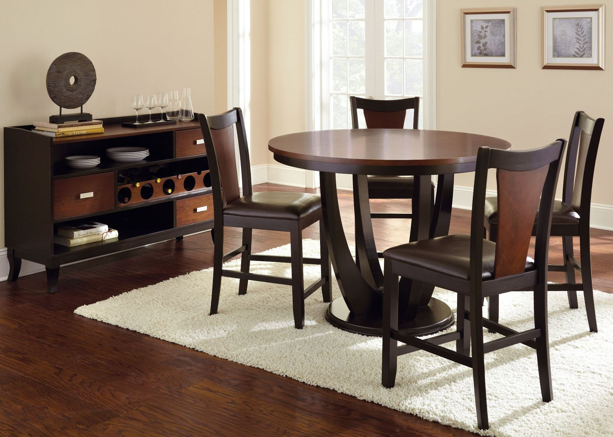 Counter Height Round Dining Set : ... Furniture > Dining Sets > Oakton Round Counter Height Dining Room Set