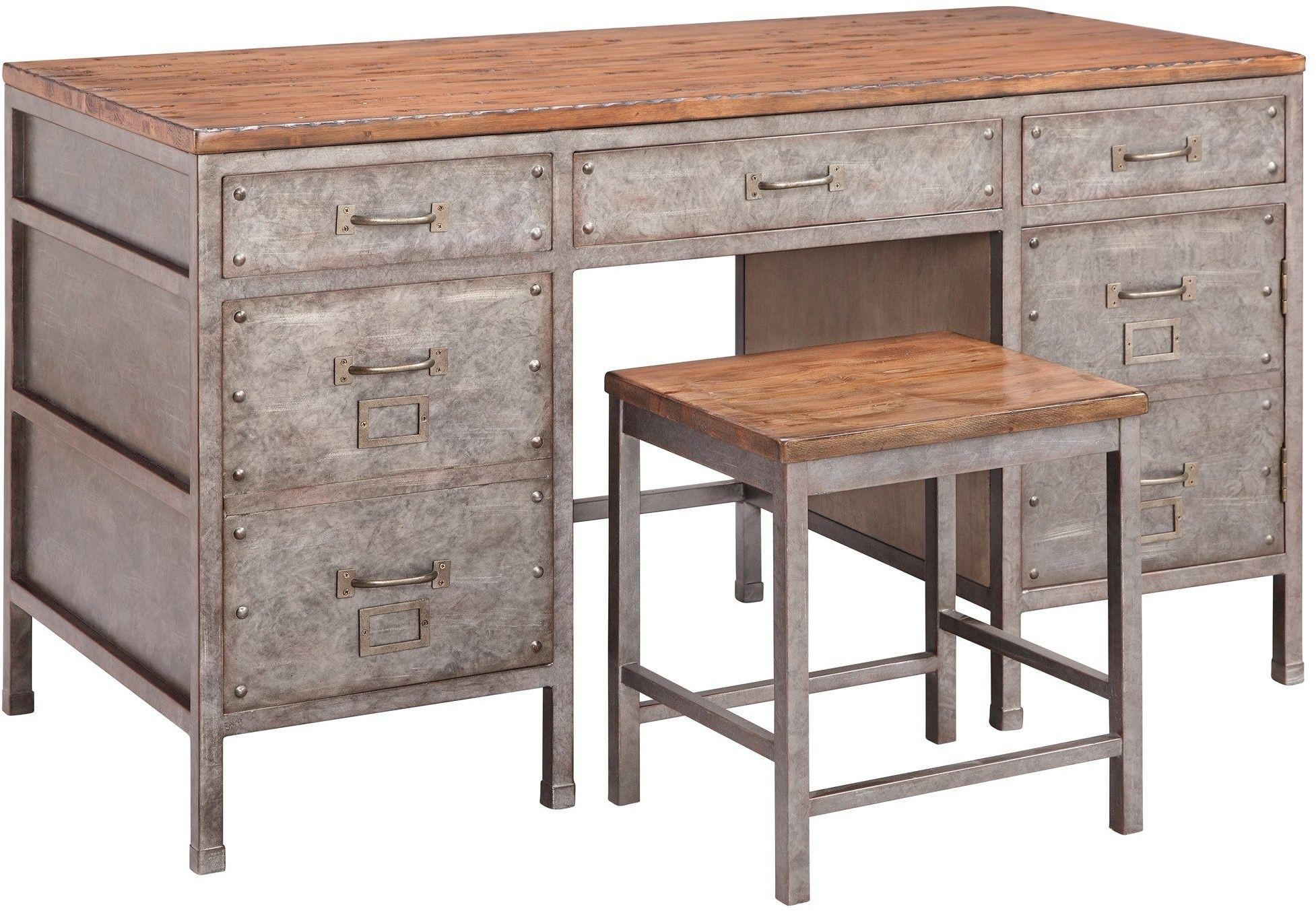 Brownstone metallic home office set 290 060 accents for Affordable furniture 290