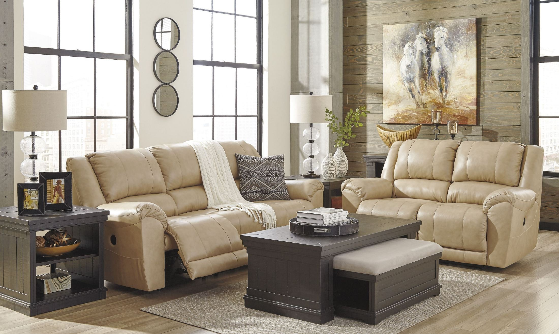 Yancy Galaxy Reclining Living Room Set 2920288 Ashley