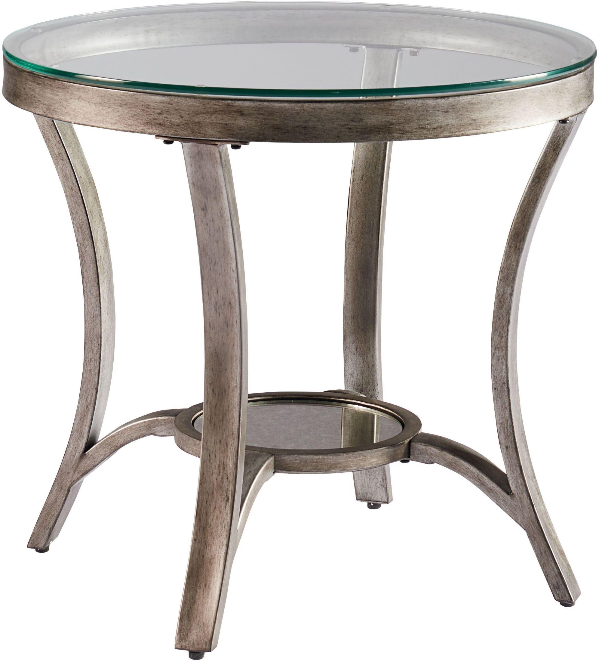 cole champagne metal end table 29302 standard furniture. Black Bedroom Furniture Sets. Home Design Ideas