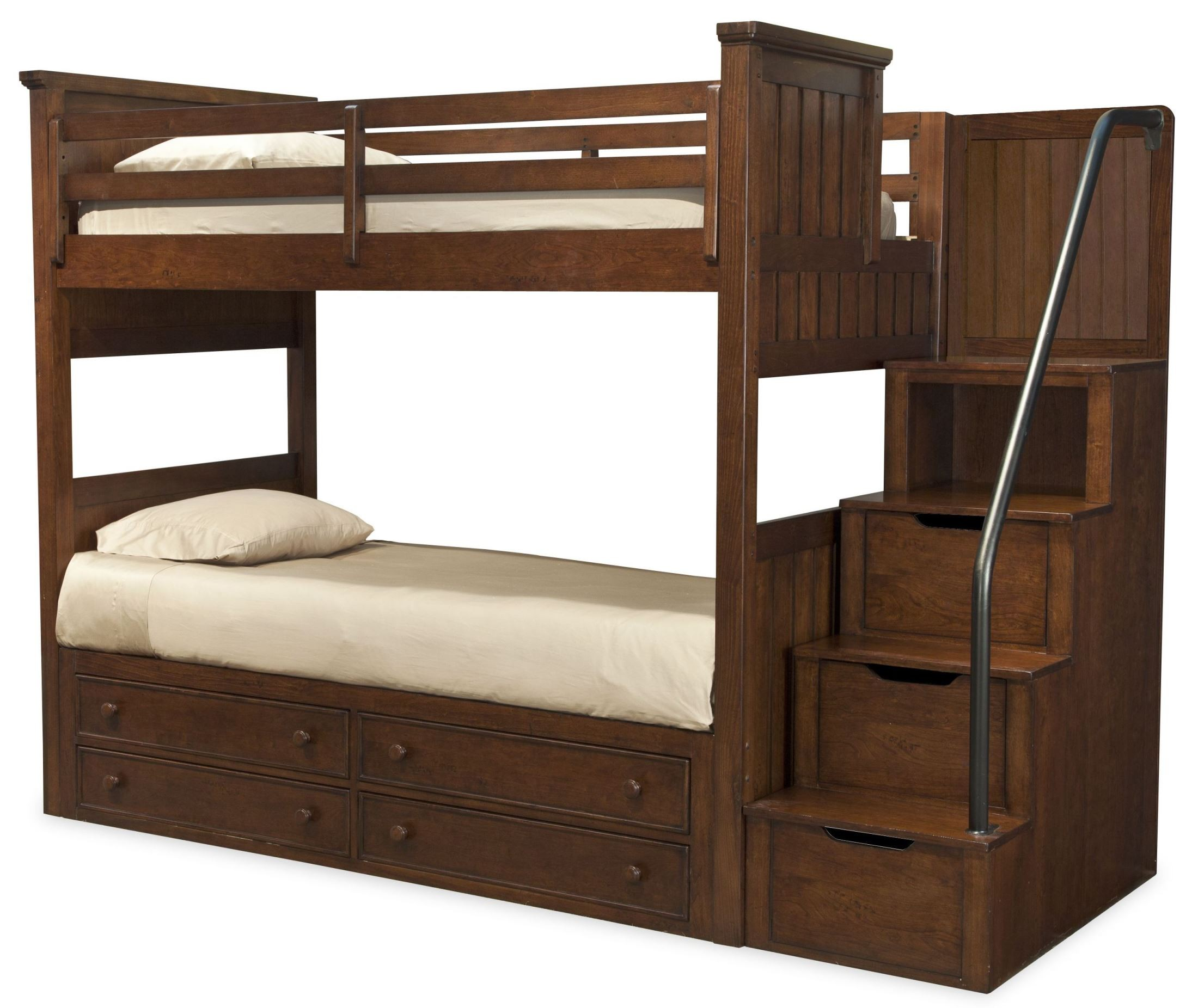dawsons ridge twin over twin bunk bed with storage steps from legacy kids 2960 8505k 8000. Black Bedroom Furniture Sets. Home Design Ideas