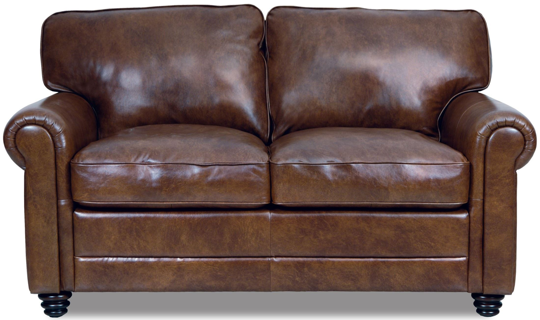 Andrew Havana Finish Italian Leather Loveseat Luk Andrew L Luke Leather