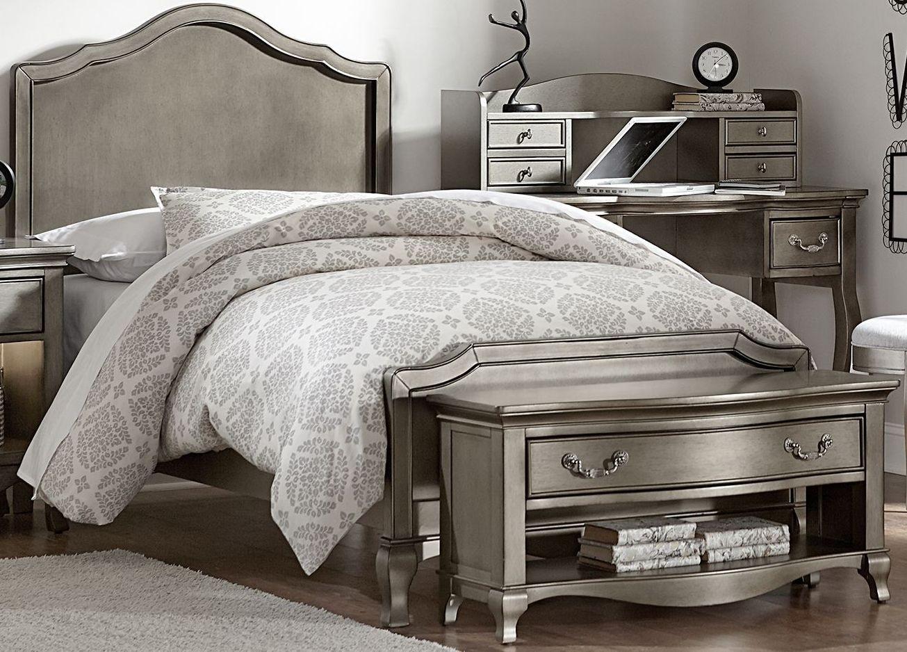 Kensington Antique Silver Charlette Youth Panel Bedroom