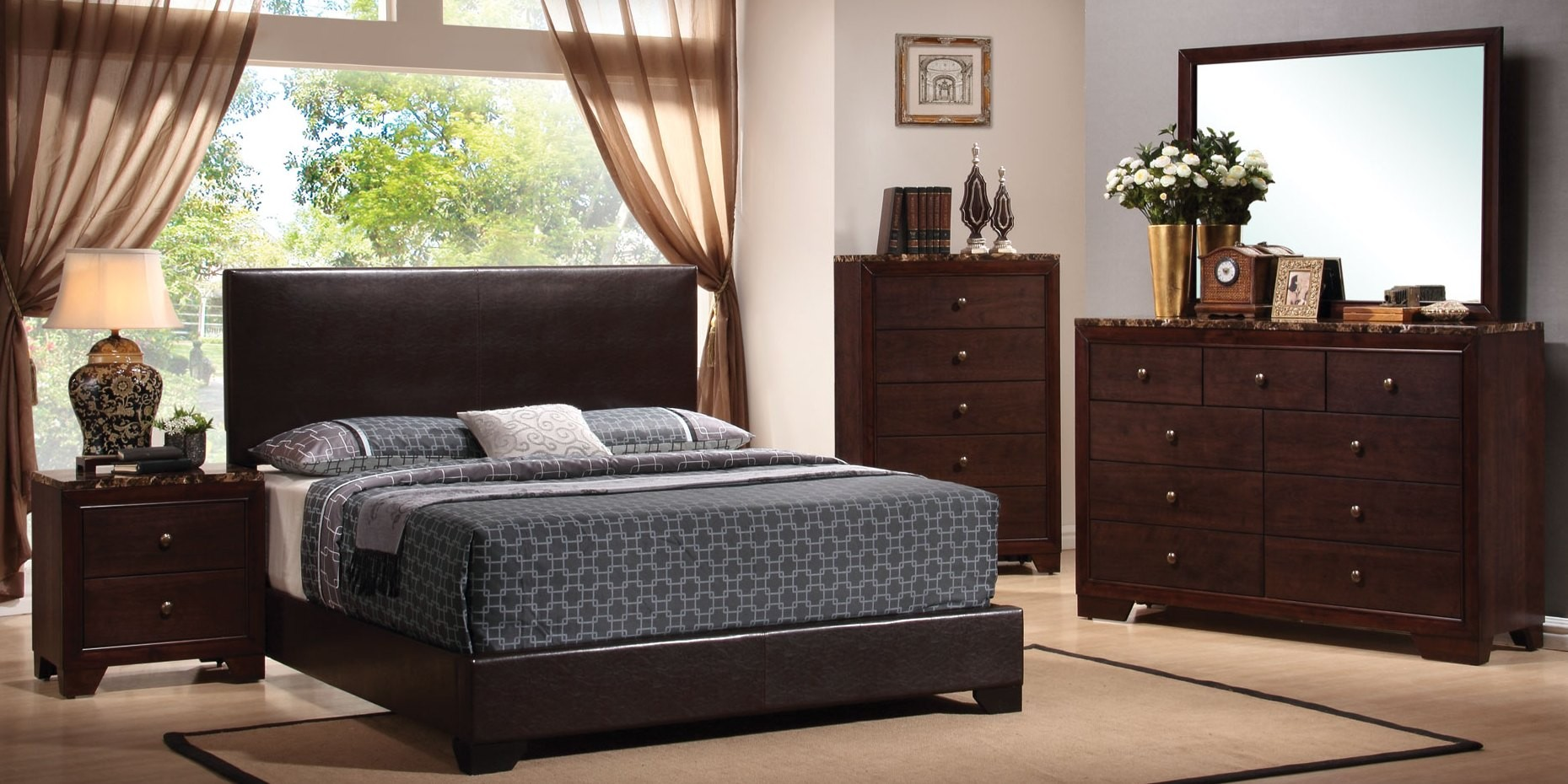 black low profile bedroom set 300260q coaster