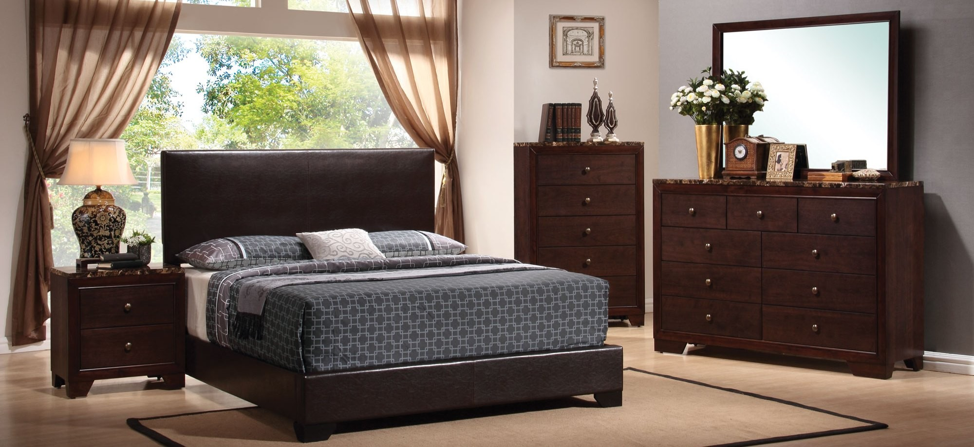 Low Price Bedroom Furniture Sets Conner Black Youth