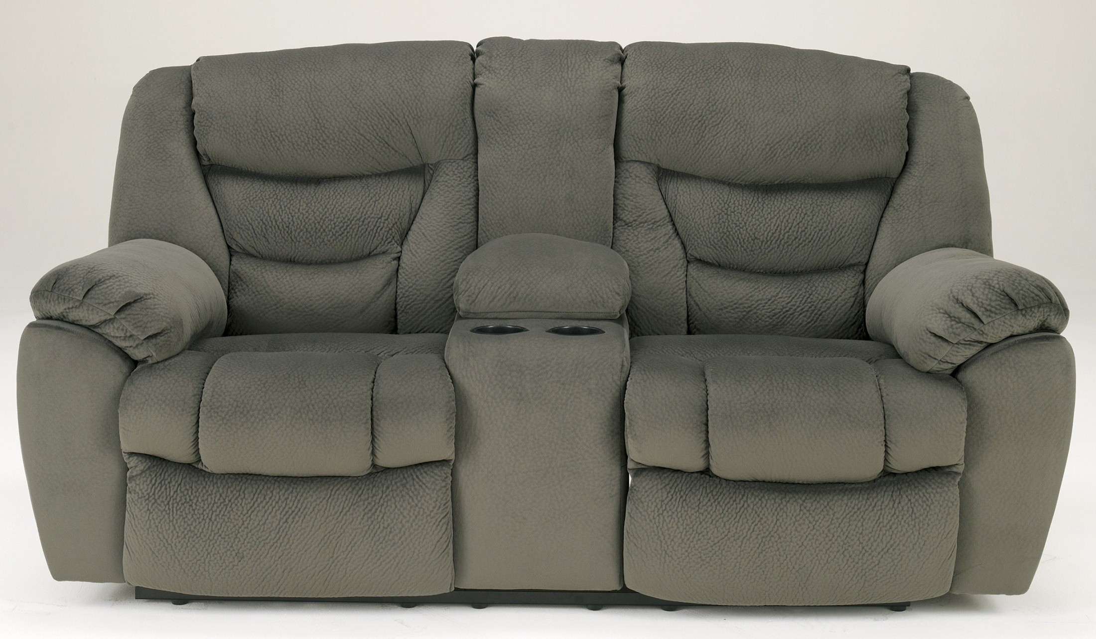 Biwabik Pewter Double Reclining Loveseat With Console 3030294 Signature Design By Ashley
