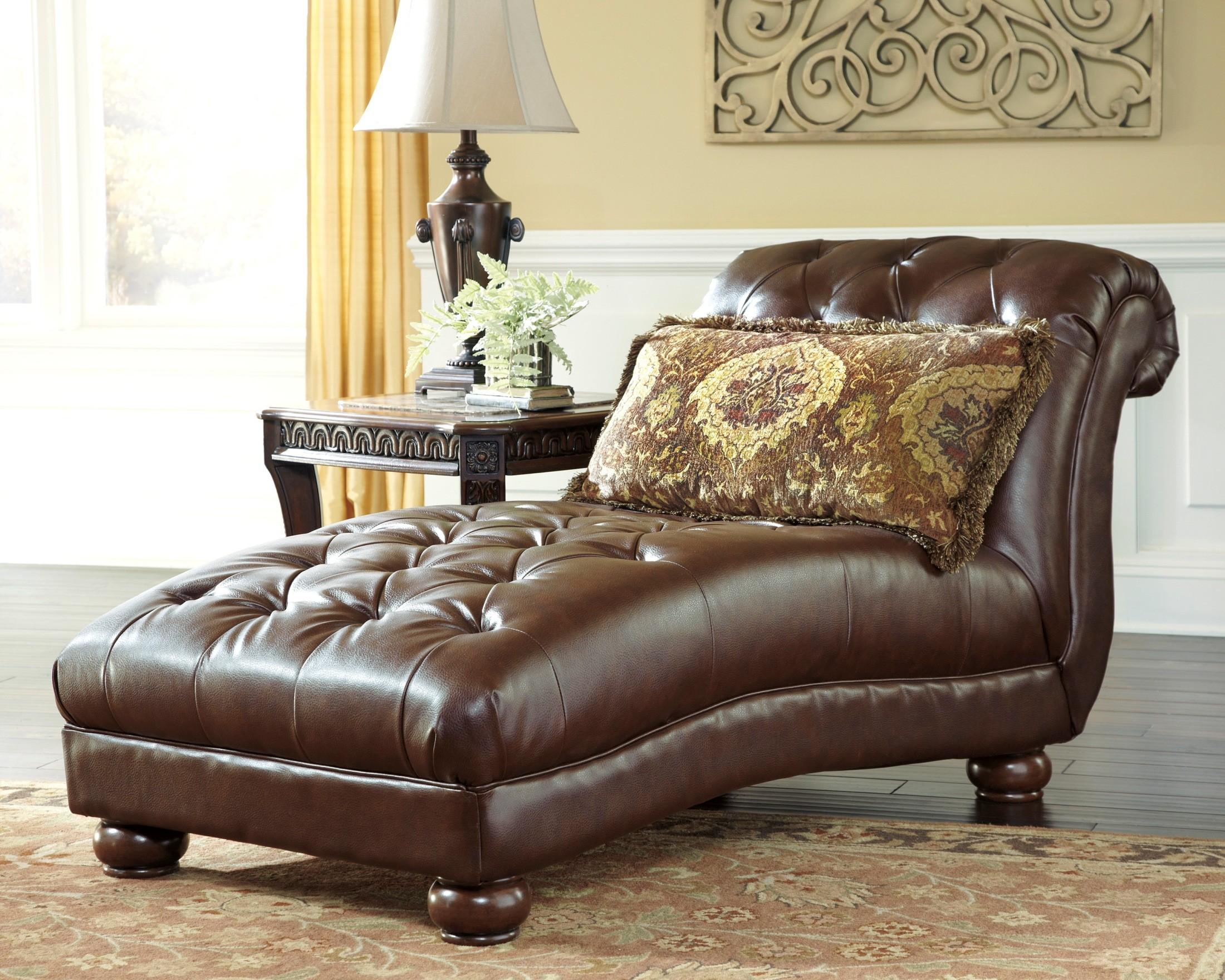 Beamerton heights chestnut chaise 3060515 ashley furniture for Ashley furniture chaise