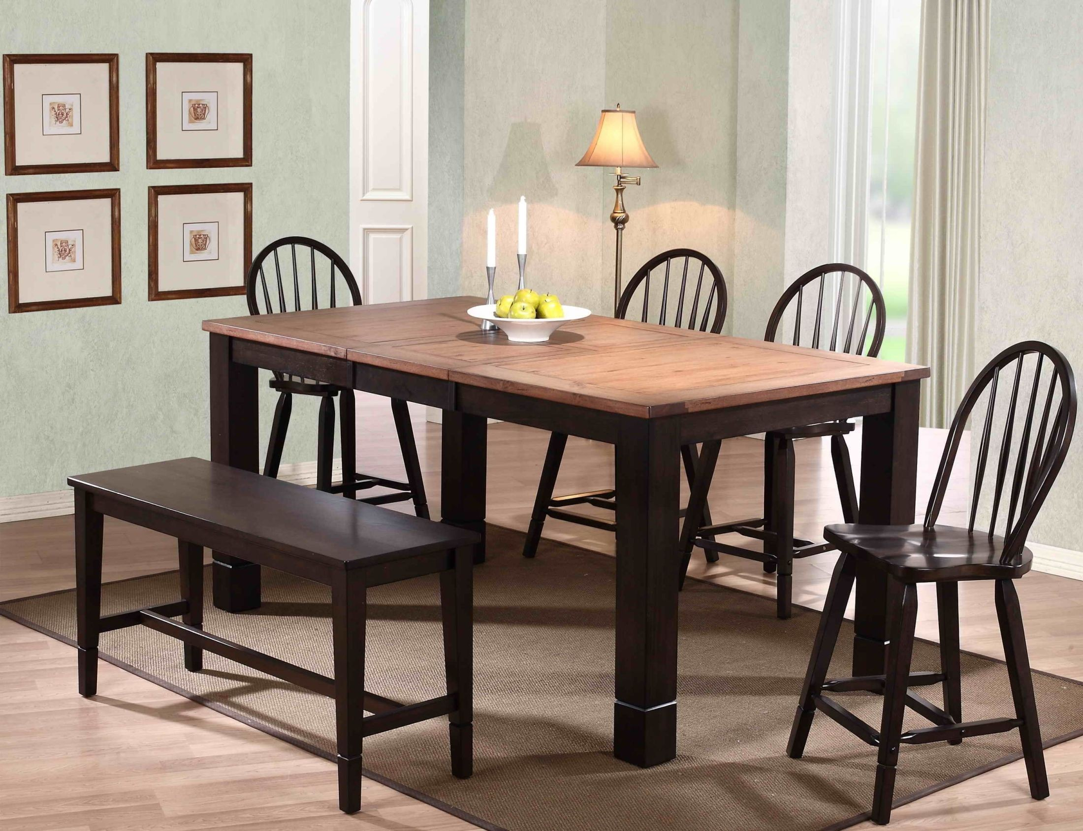 acacia distressed walnut dining room set 3073 00 t eci furniture