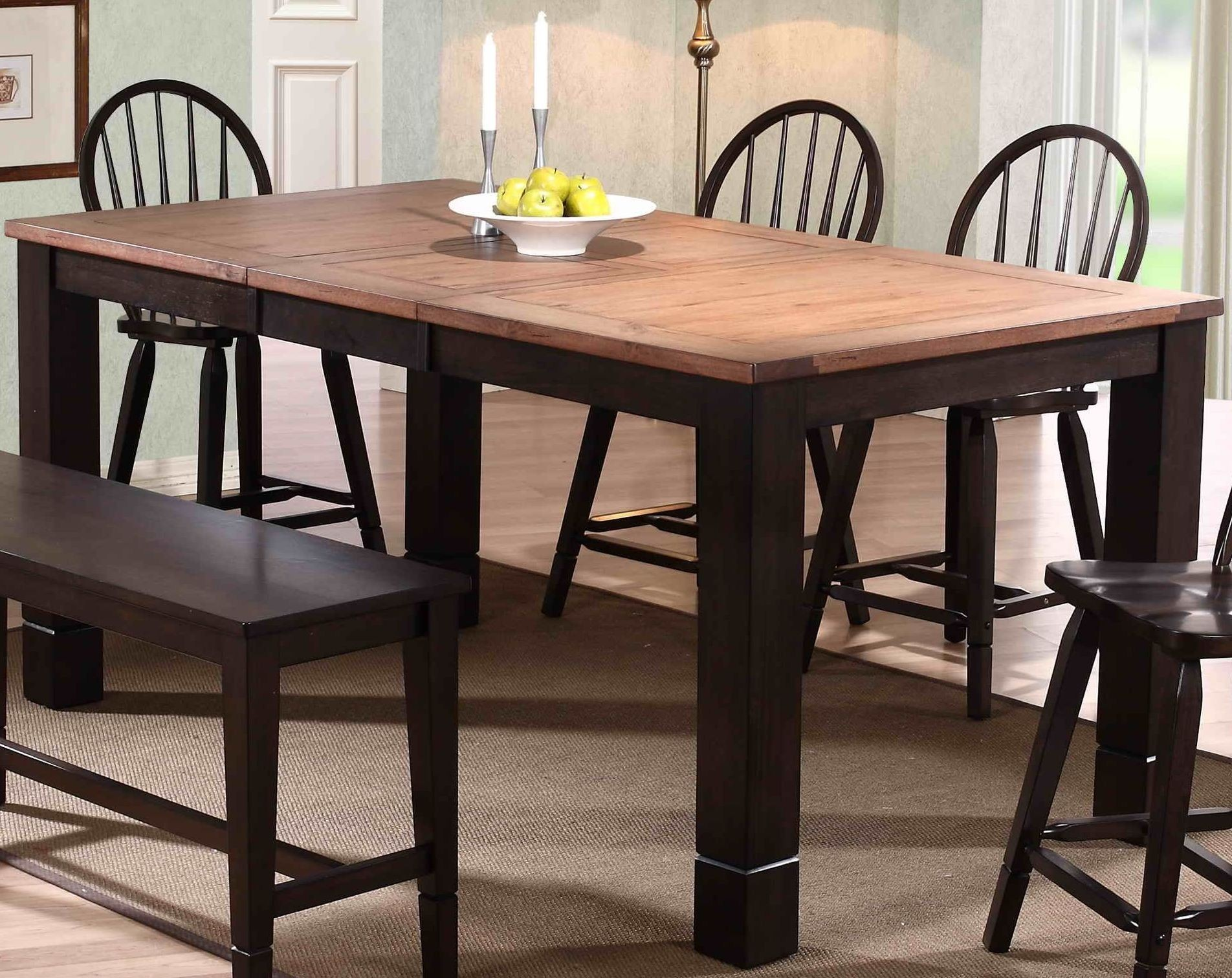 acacia distressed walnut dining table 3073 00 t eci furniture. Black Bedroom Furniture Sets. Home Design Ideas