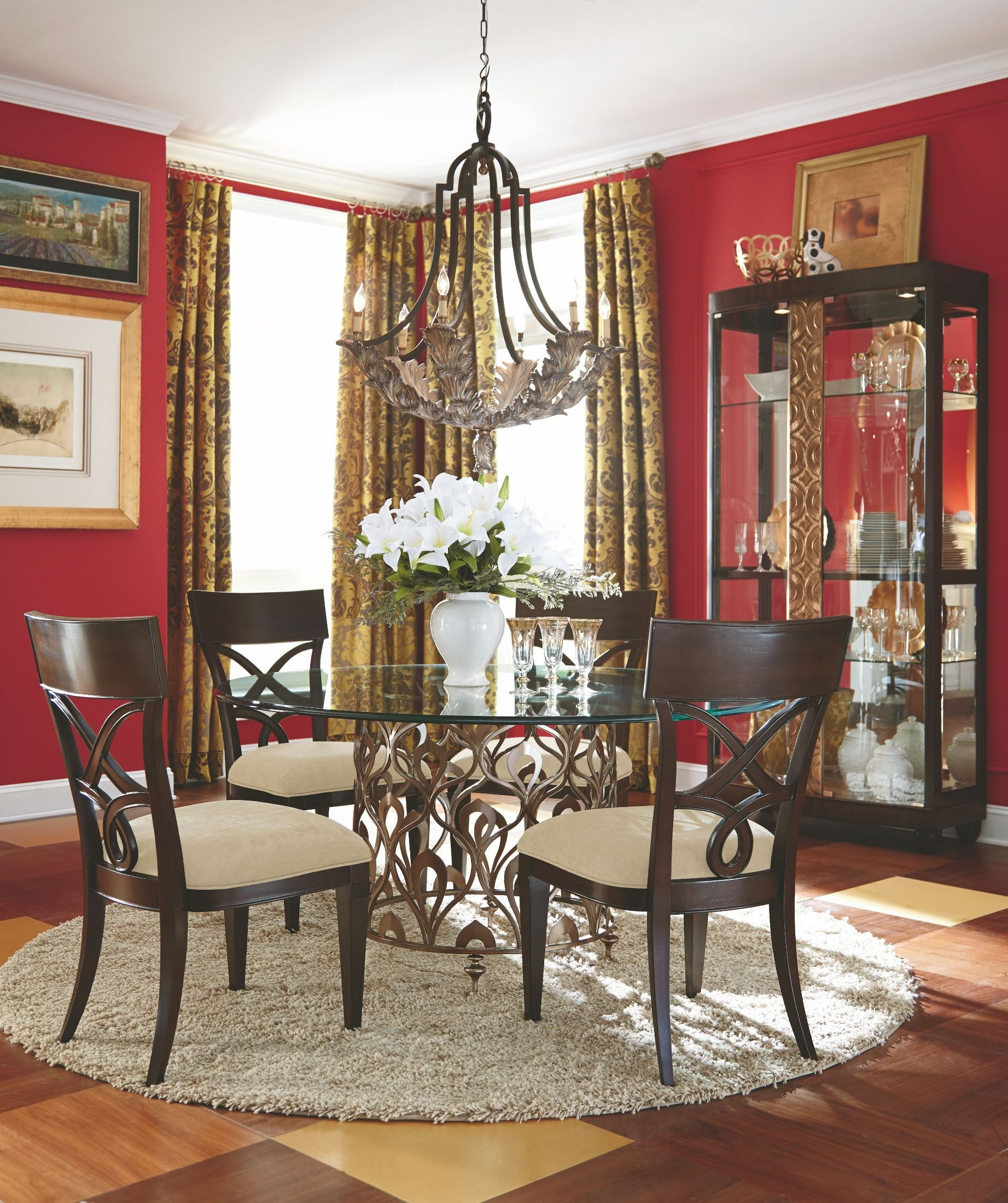 home bob mackie home mink round dining room set id amd 308 702r room 0