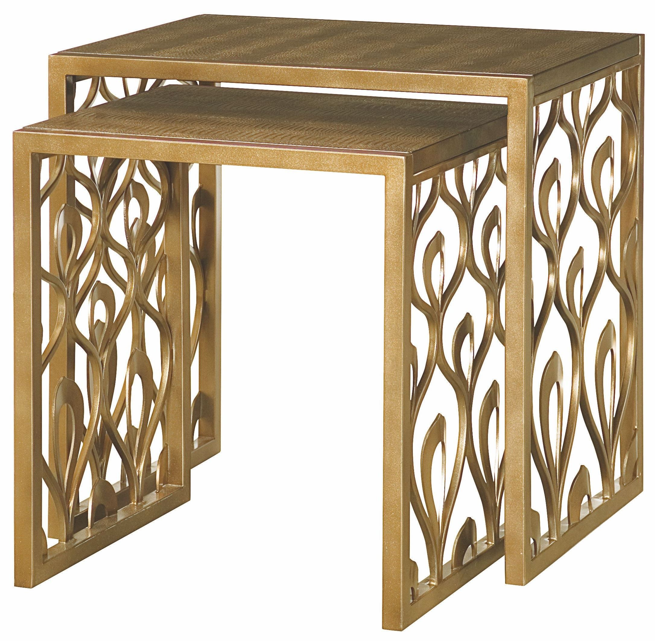 Bob Mackie Round Occasional Table Set From Hammary 308 912 Coleman Furniture