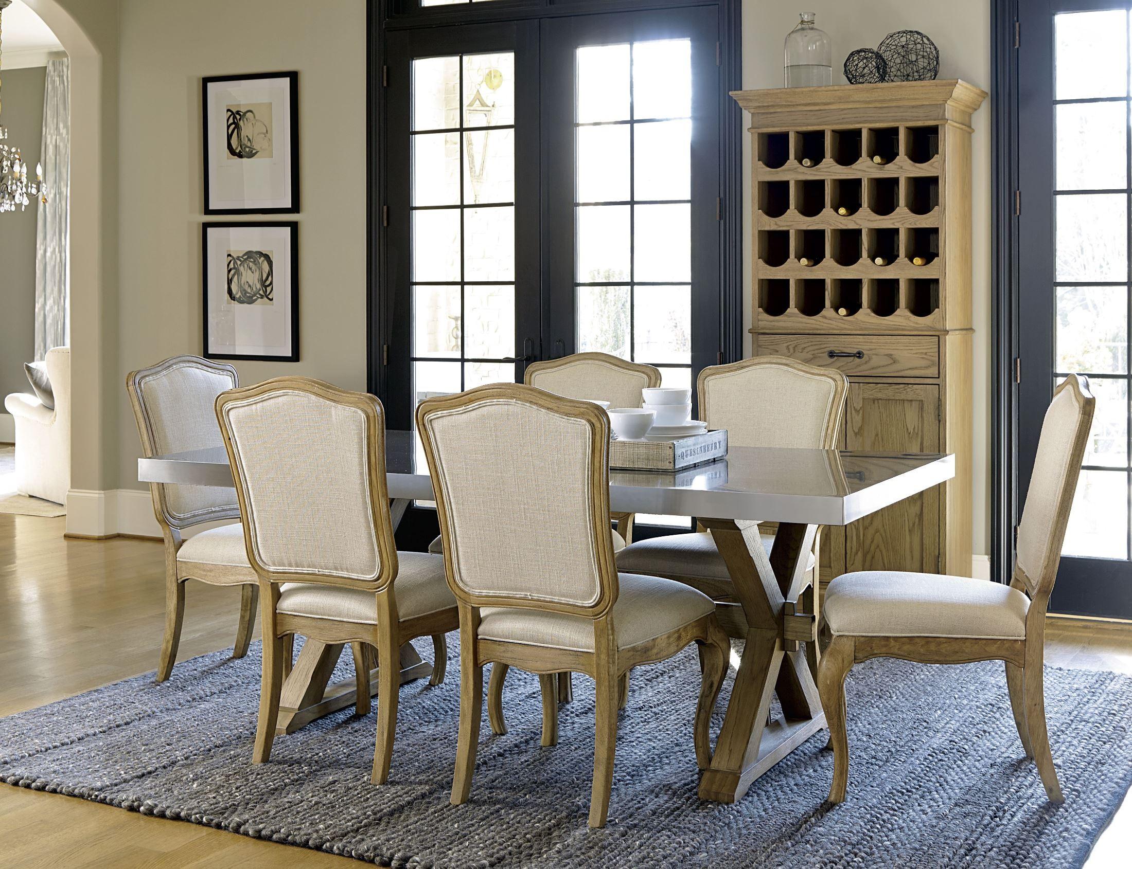 Berkeley3 loft flatiron trestle dining room set 318755 for Trestle dining room sets
