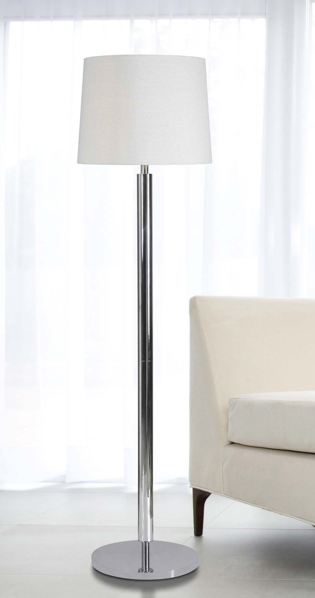 Milano floor lamp from kenroy 32135ch coleman furniture for Milano chrome floor lamp