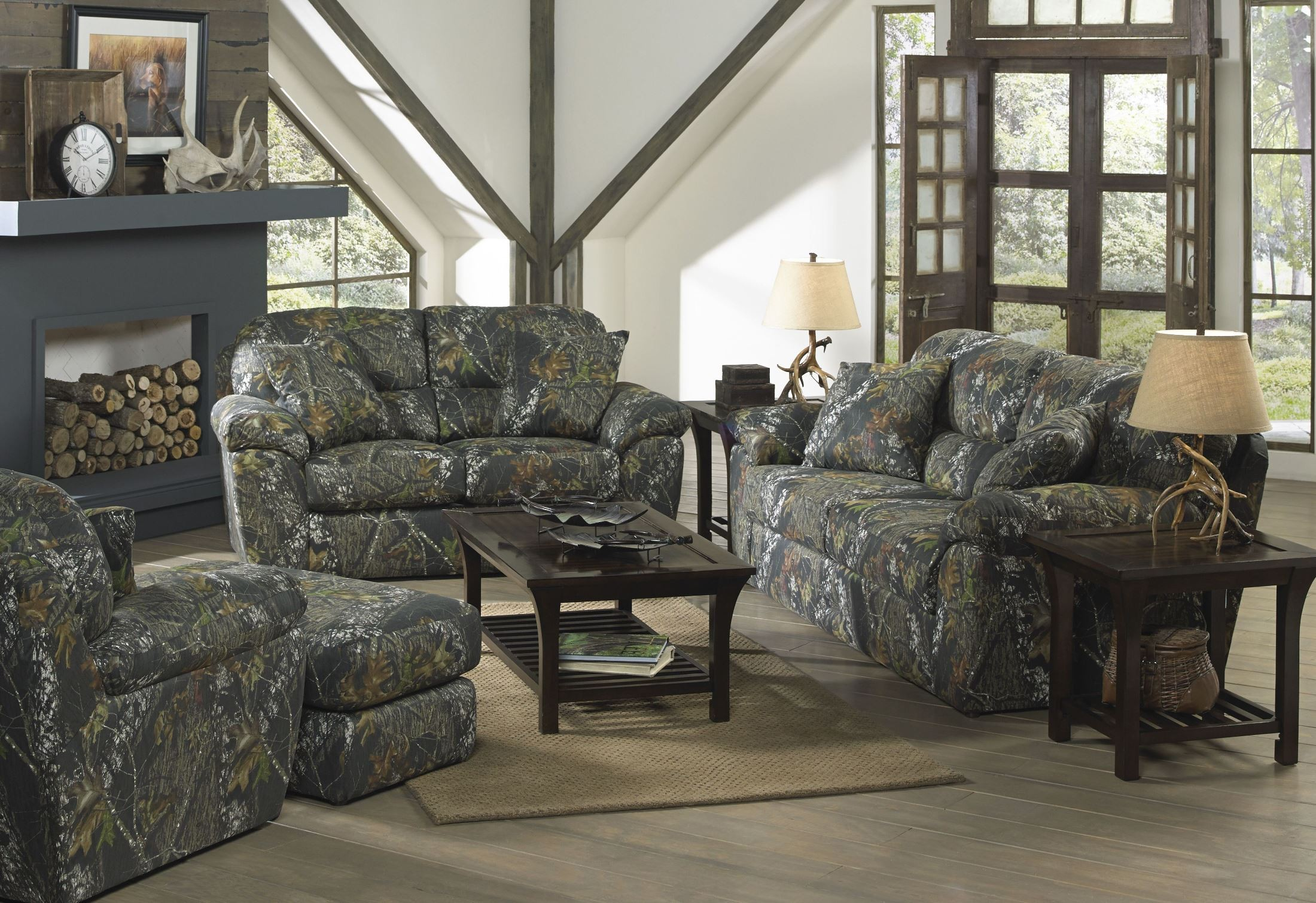 Cumberland Mossy Oak New Breakup Living Room Set 3218 03 2657 15 Duck Dynasty