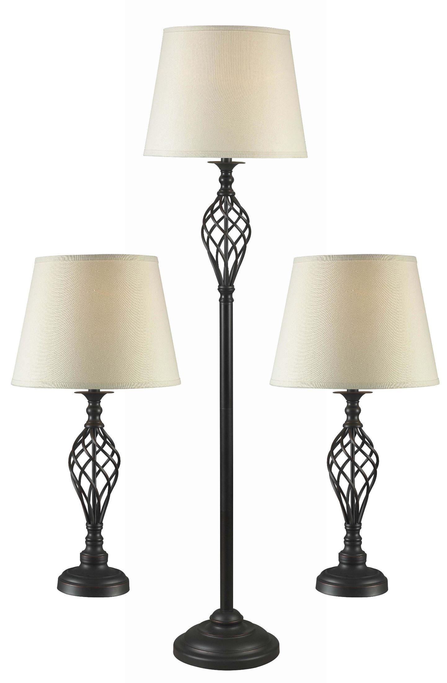 avett lamp set of 3 from kenroy 32190orb coleman furniture. Black Bedroom Furniture Sets. Home Design Ideas