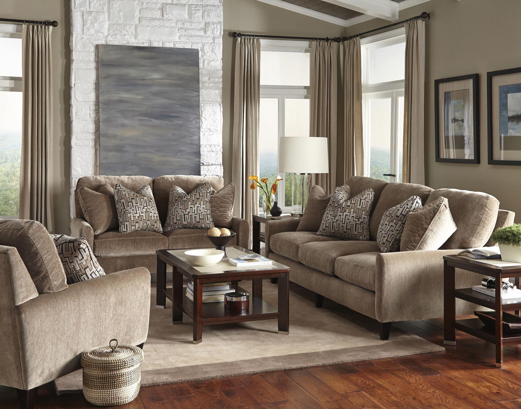 mulholland taupe living room set from jackson 325503000000000000 coleman furniture. Black Bedroom Furniture Sets. Home Design Ideas