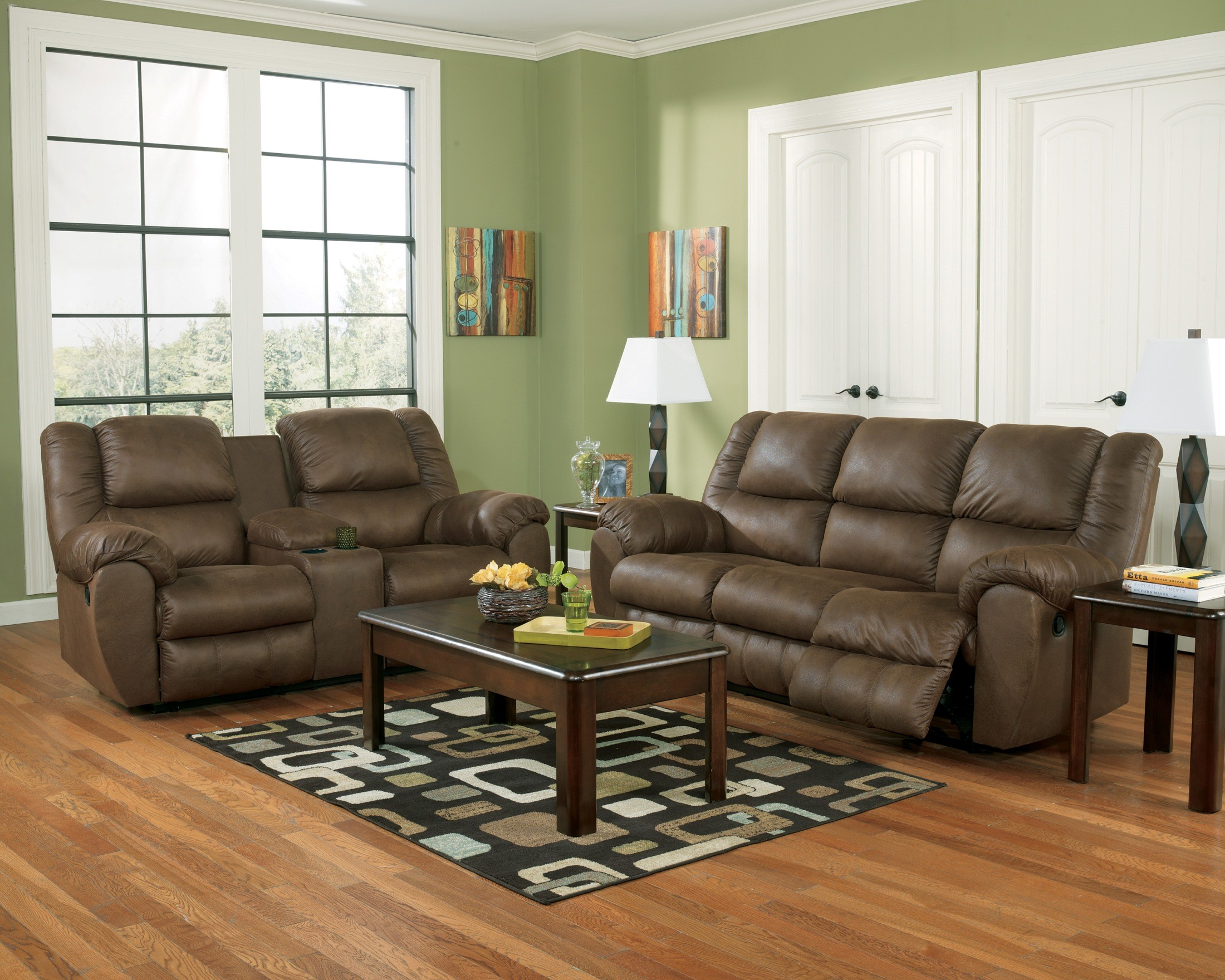 Quarterback Canyon Reclining Living Room Set From Ashley