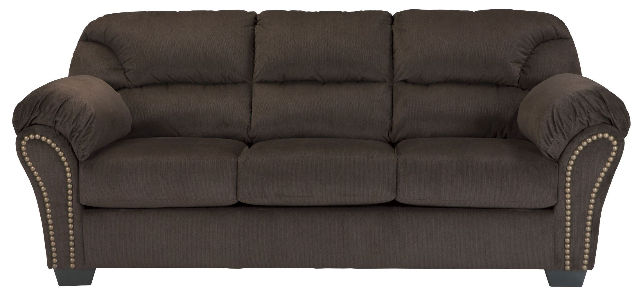 kinlock chocolate sofa from ashley 3340138 coleman. Black Bedroom Furniture Sets. Home Design Ideas