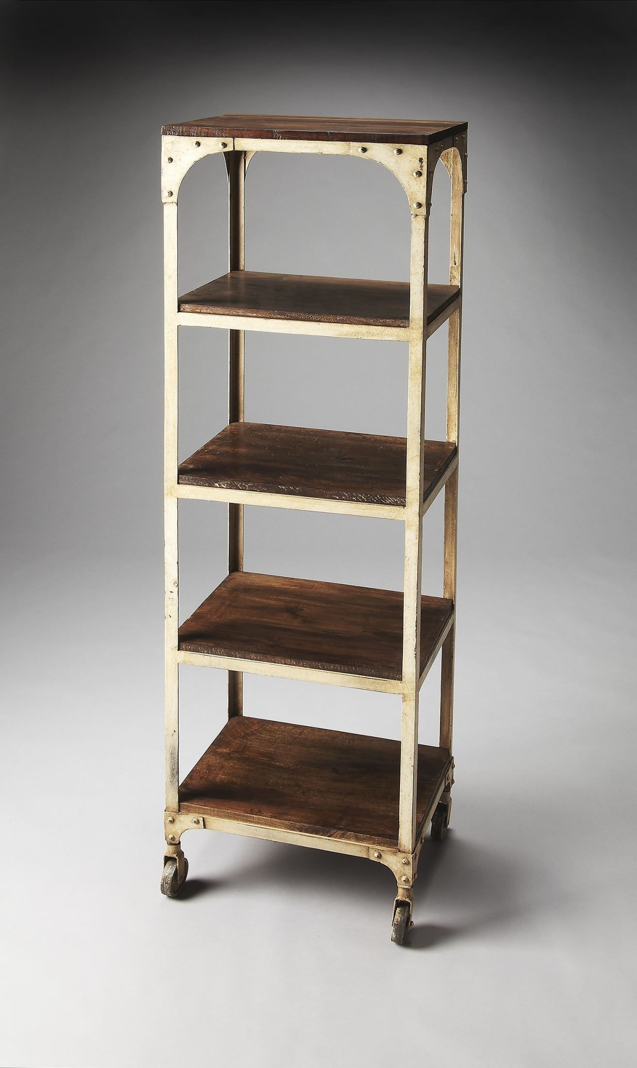 Blaine industrial chic artifacts etagere from butler for Etagere campagne chic