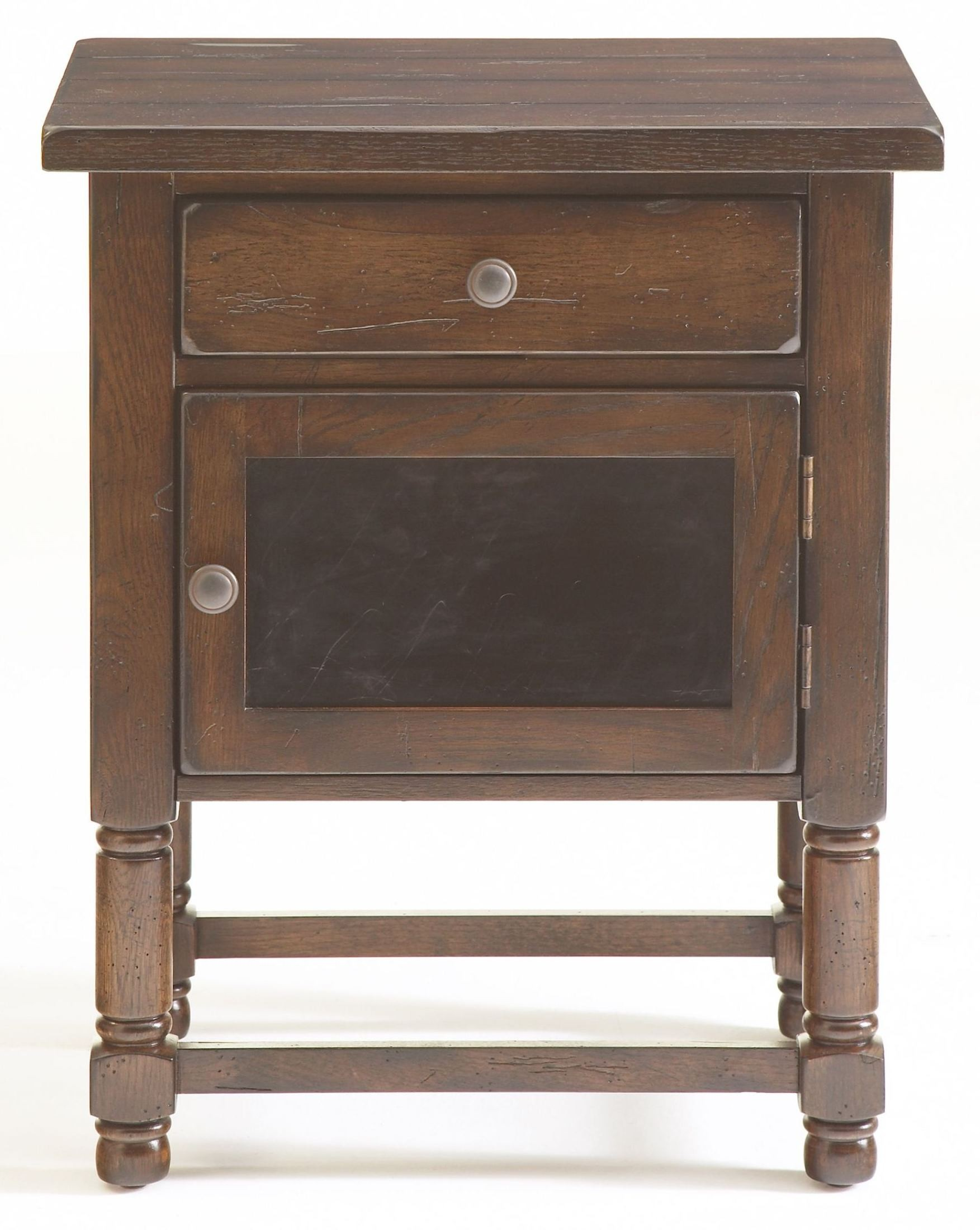 attic rustic chairside table 3399 06 broyhill