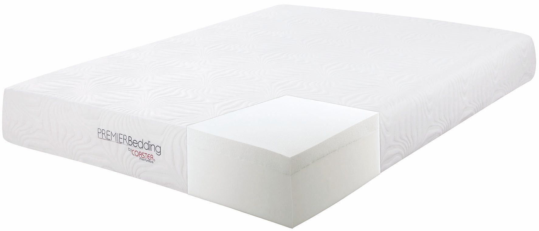 Key 10 Twin Memory Foam Mattress 350064t Coaster Furniture