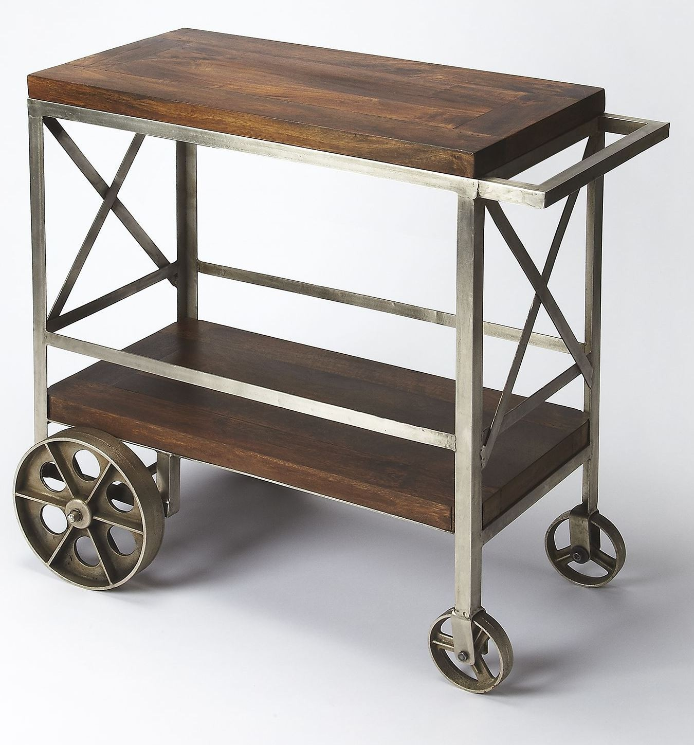 Industrial chic trolley server from butler 3541330 coleman
