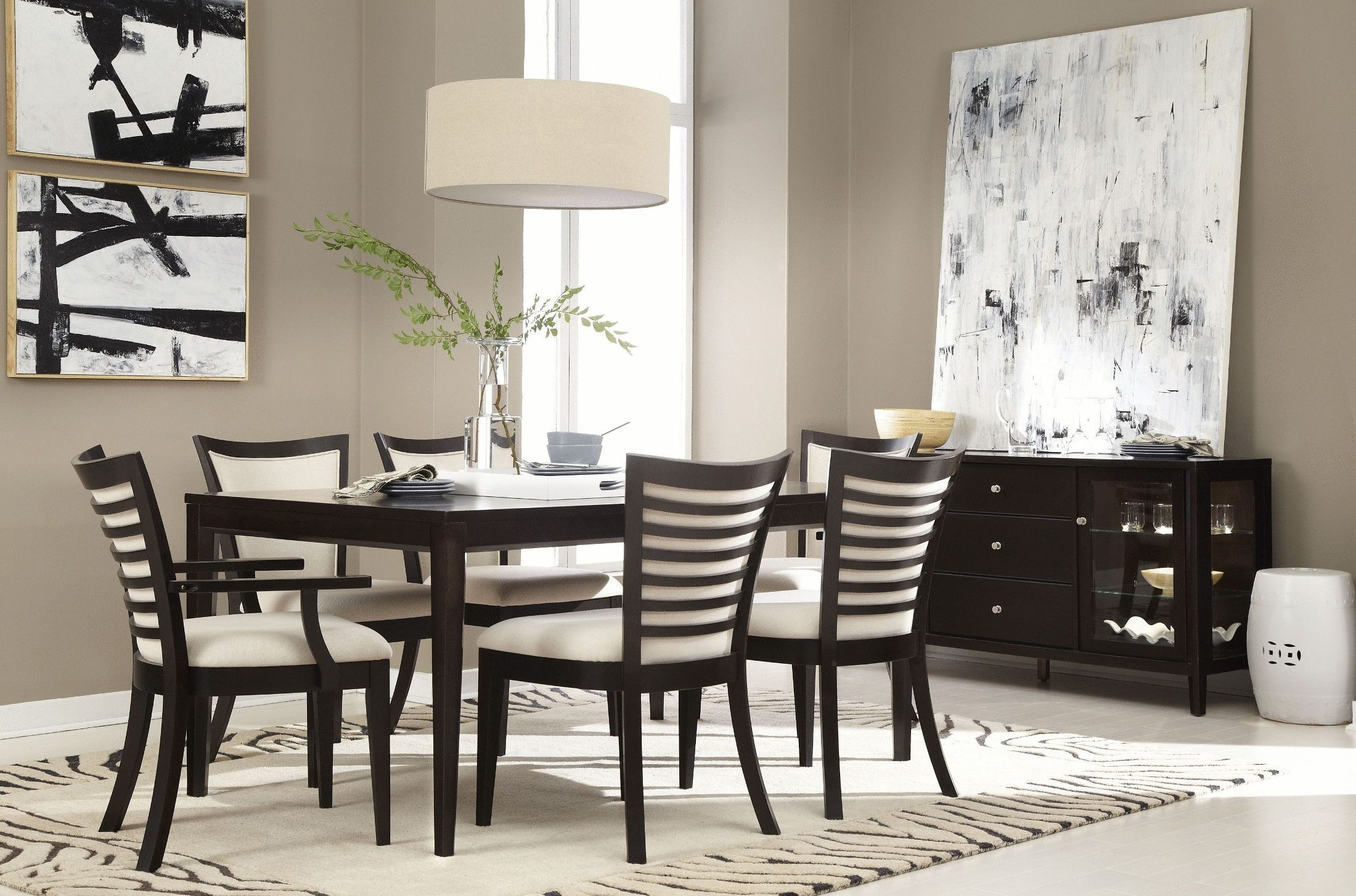 beckett brown 7 piece dining room set 355 1523k7 casana archive dining room set 7 pc mahogany stained rynfield