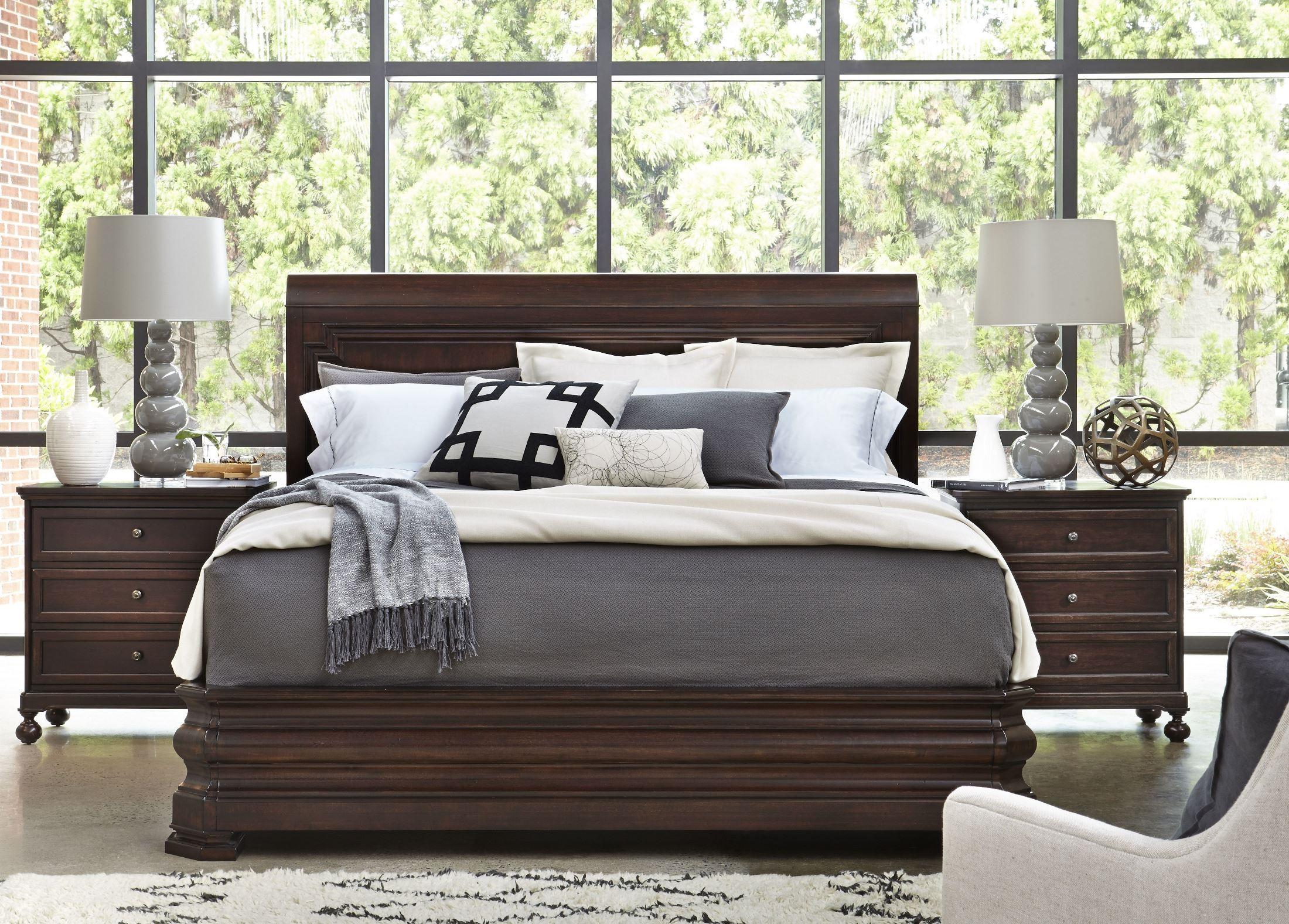 Proximity sumatra sleigh bedroom set 35675b universal for Sleigh bedroom set