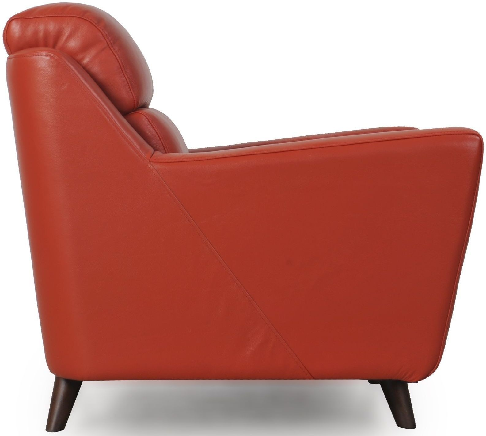 Lucia Brick Red Leather Loveseat 35802b1349 Moroni