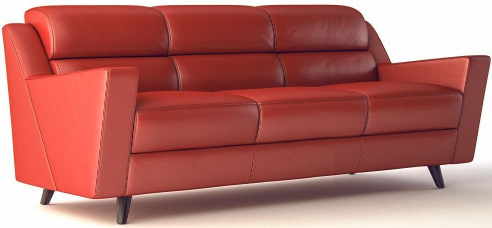 Lucia brick red leather sofa 35803b1349 moroni for Brick red sectional sofa