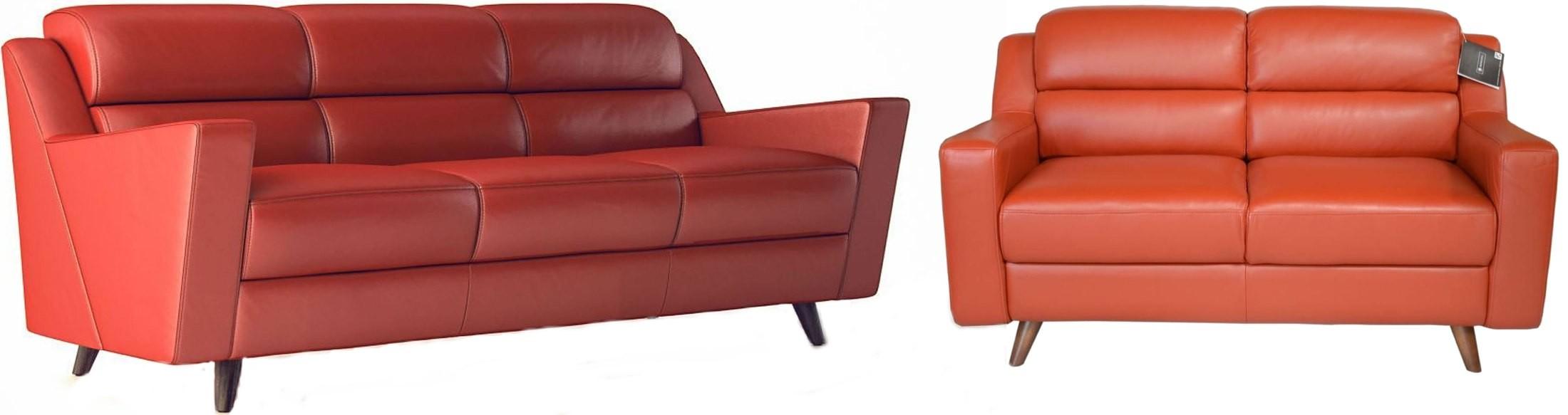 Lucia brick red leather sofa 35803b1349 moroni - The brick sofa sets ...