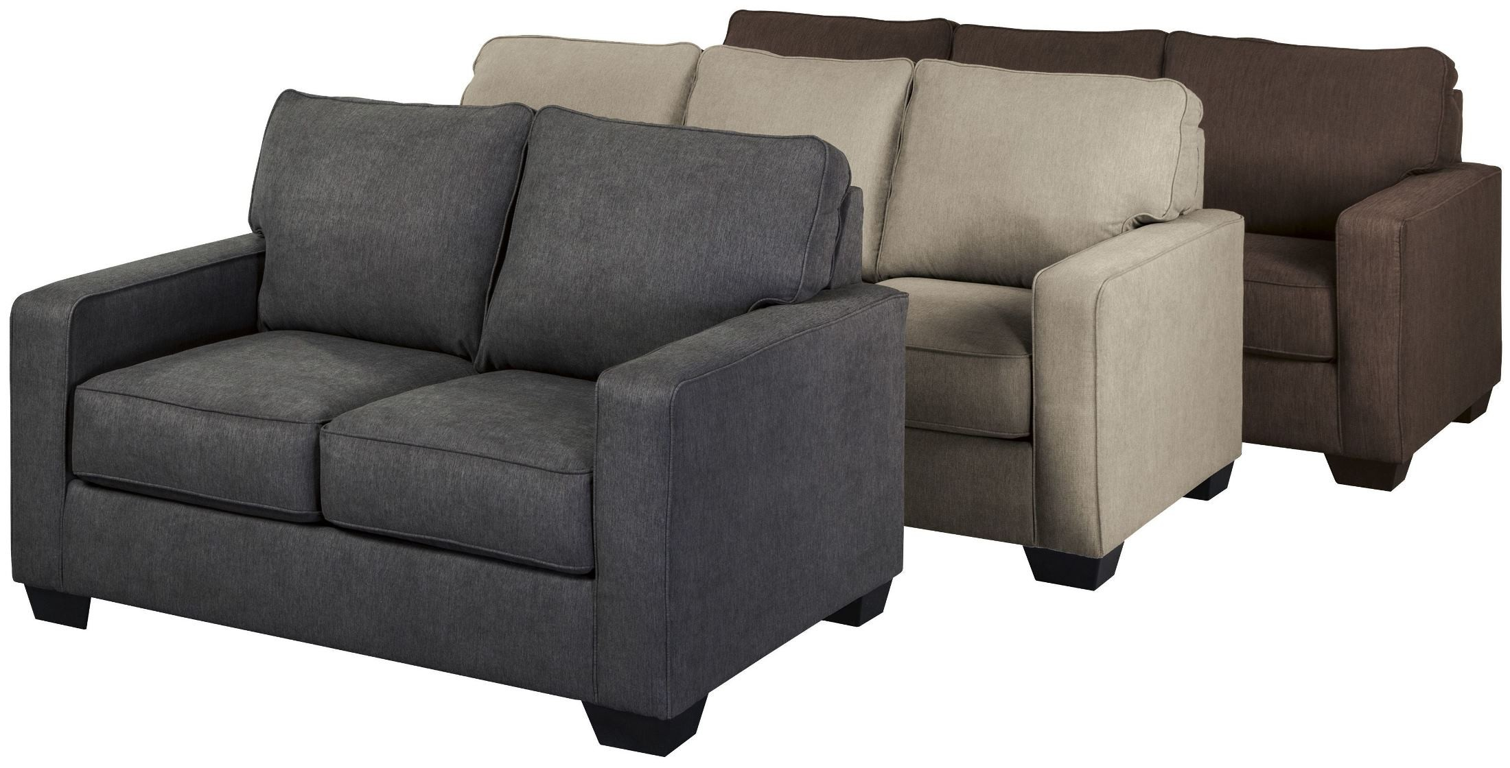 Zeb Charcoal Twin Sofa Sleeper 3590137 Ashley