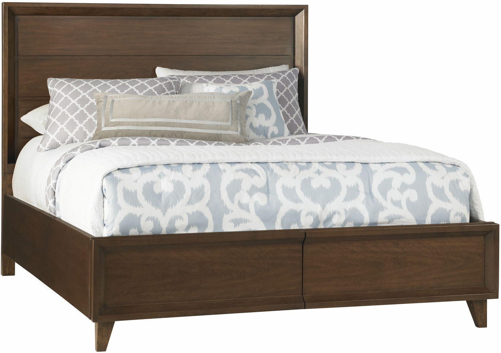 Wyndham Brown Raised Queen Panel Storage Bed 361 522kq