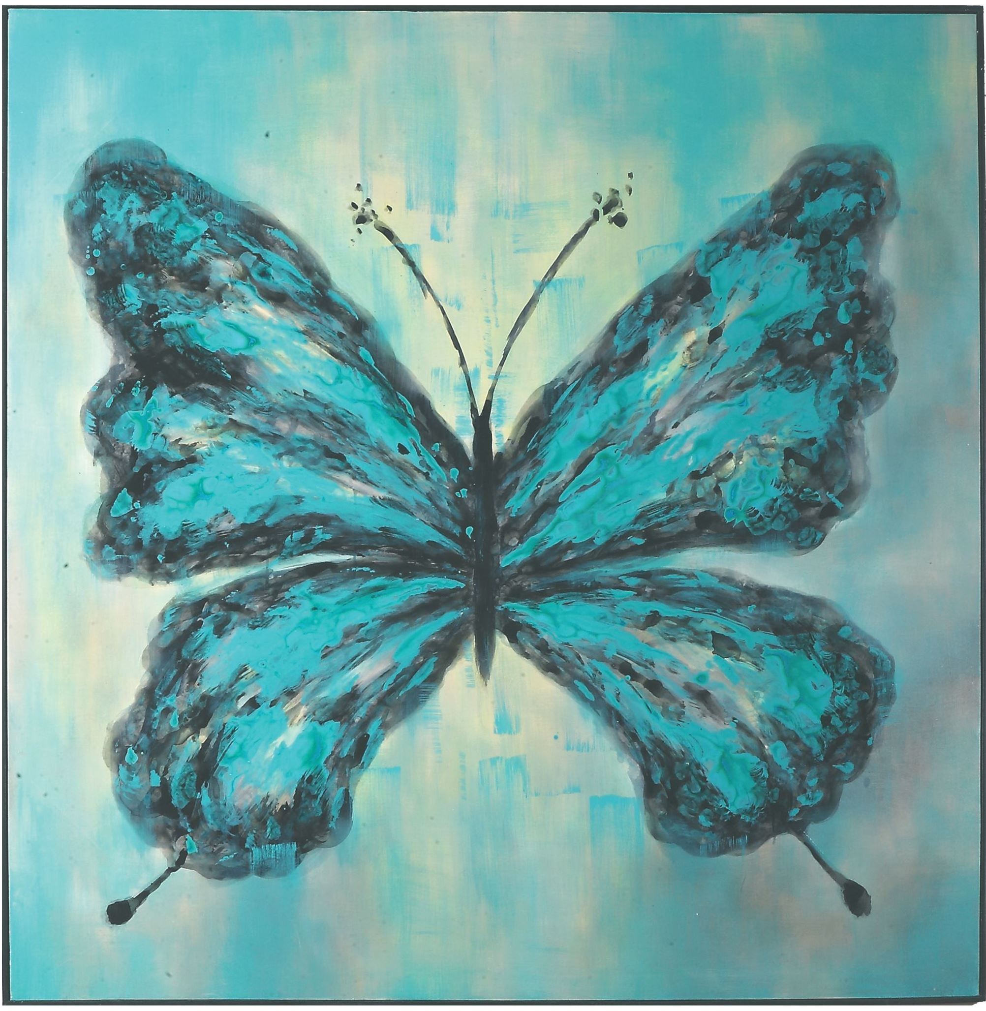 Butterfly on display hand painted art from uttermost for Hand painting art
