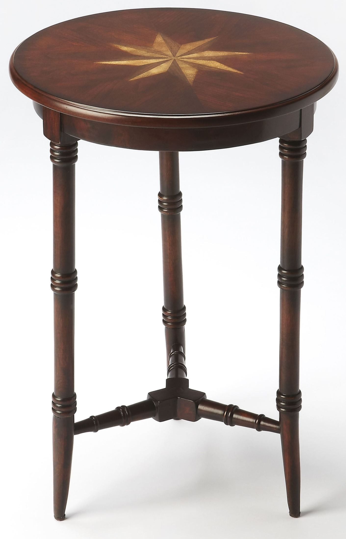 Isla plantation cherry accent table 3615024 butler for Cherry side table