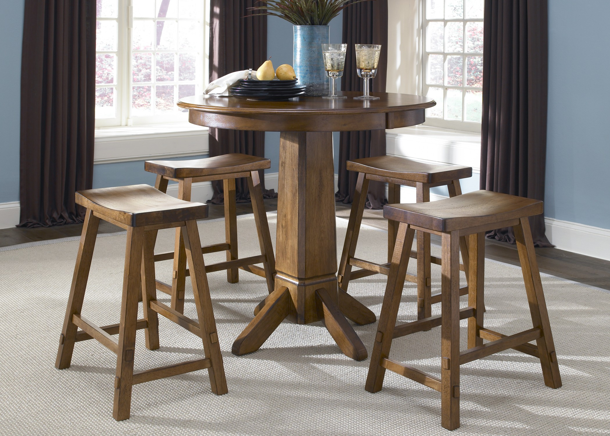 creations ii tobacco pub dining room set from liberty 38