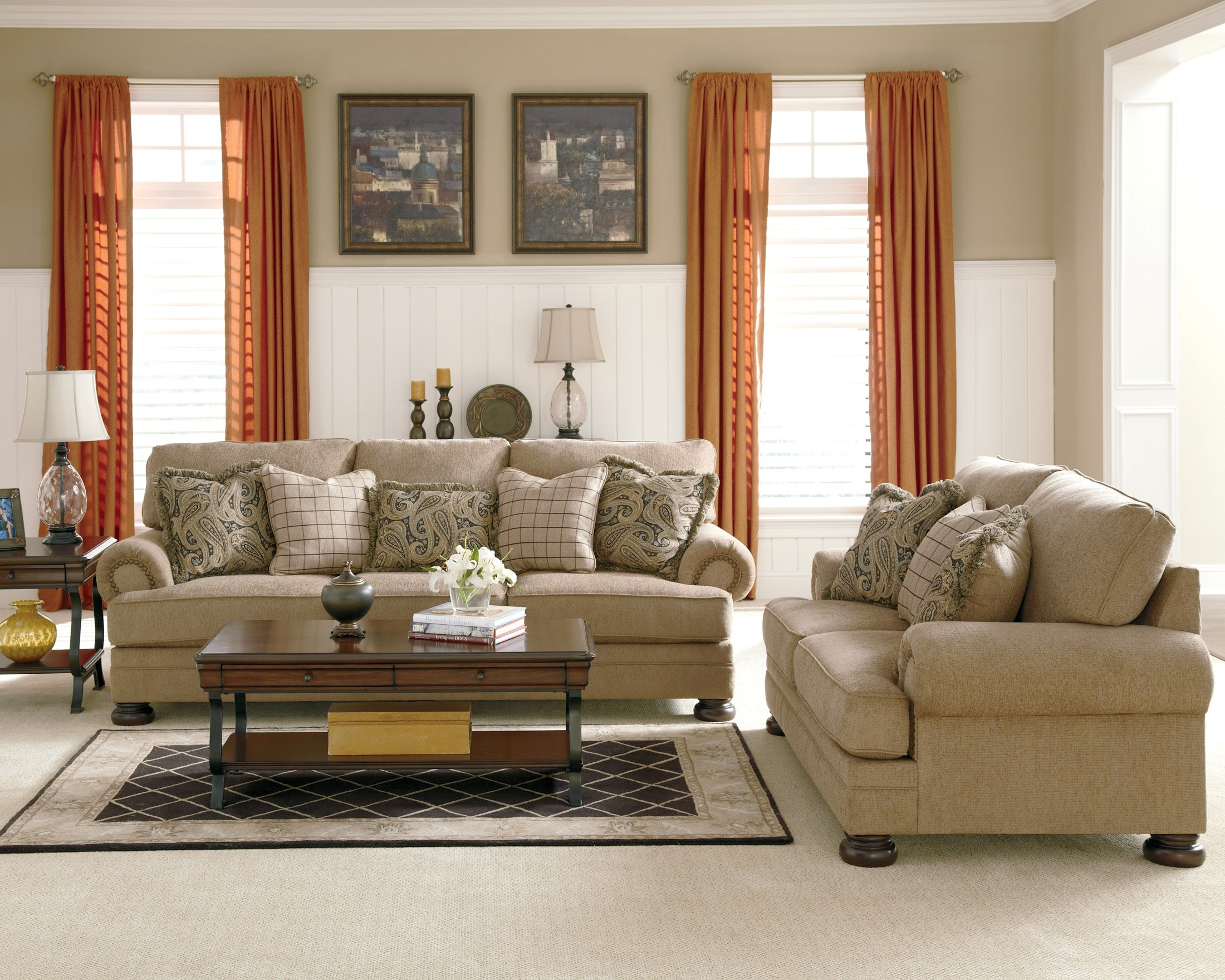 Keereel Sand Living Room Set From Ashley 38200 Coleman