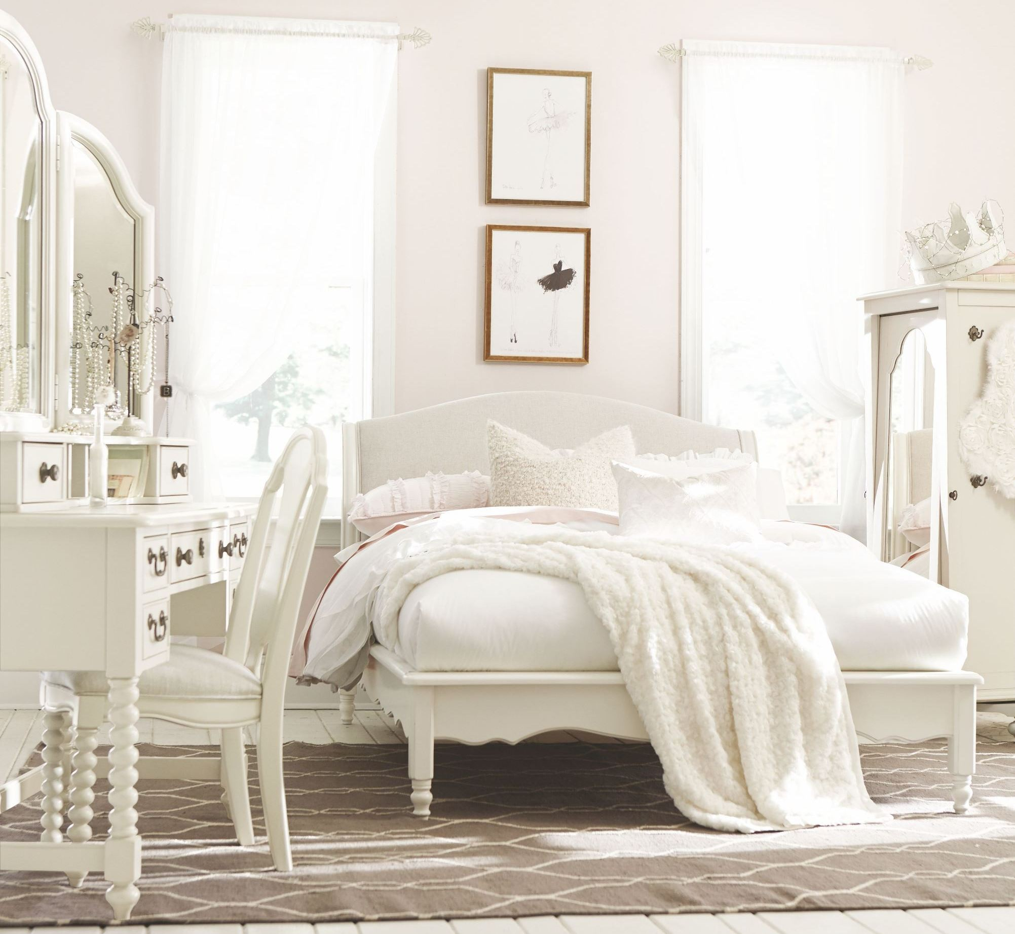 inspirations seashell white youth avalon platform bedroom