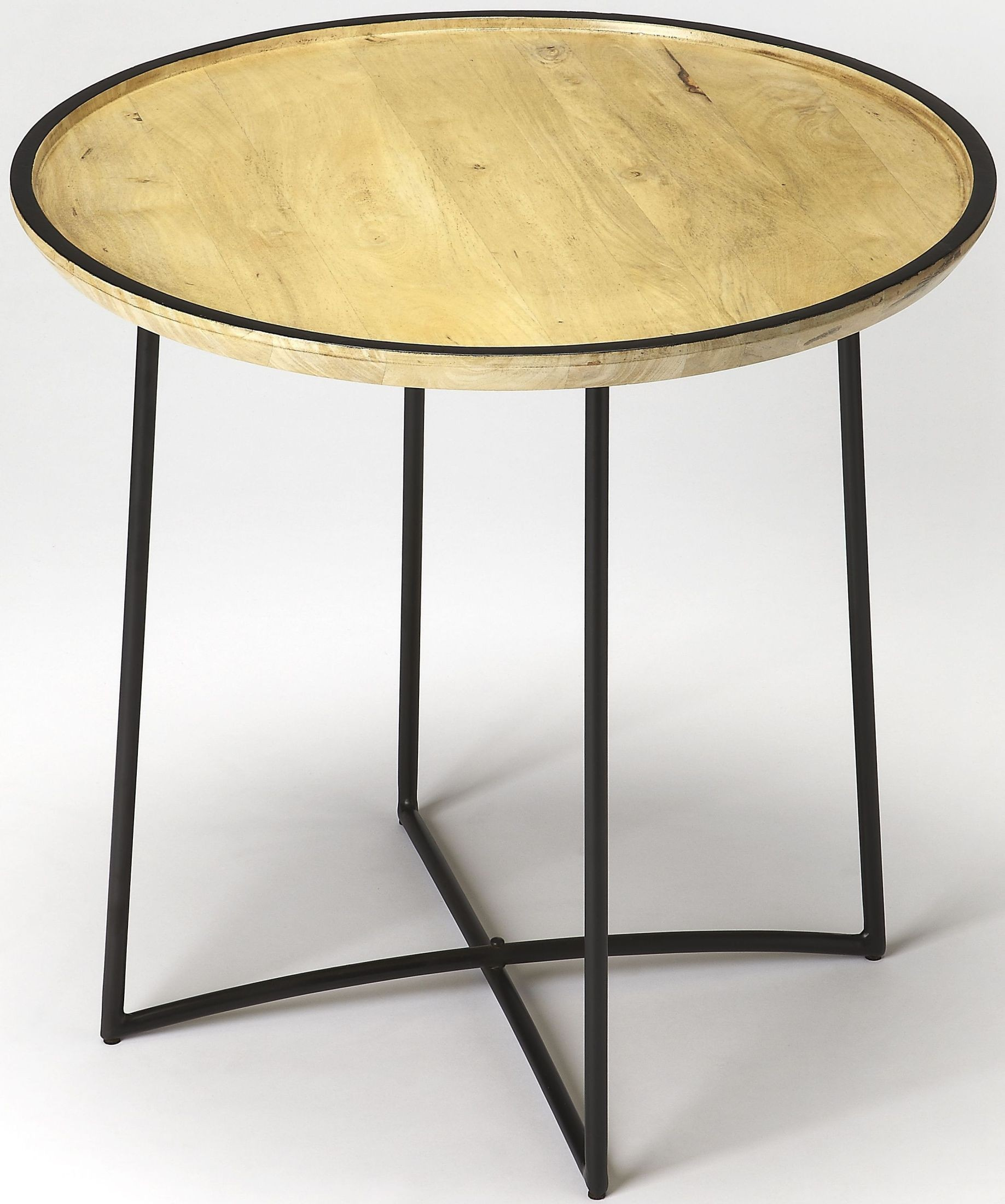Butler loft brooke iron and wood accent table 3848140 butler for Iron and wood side table