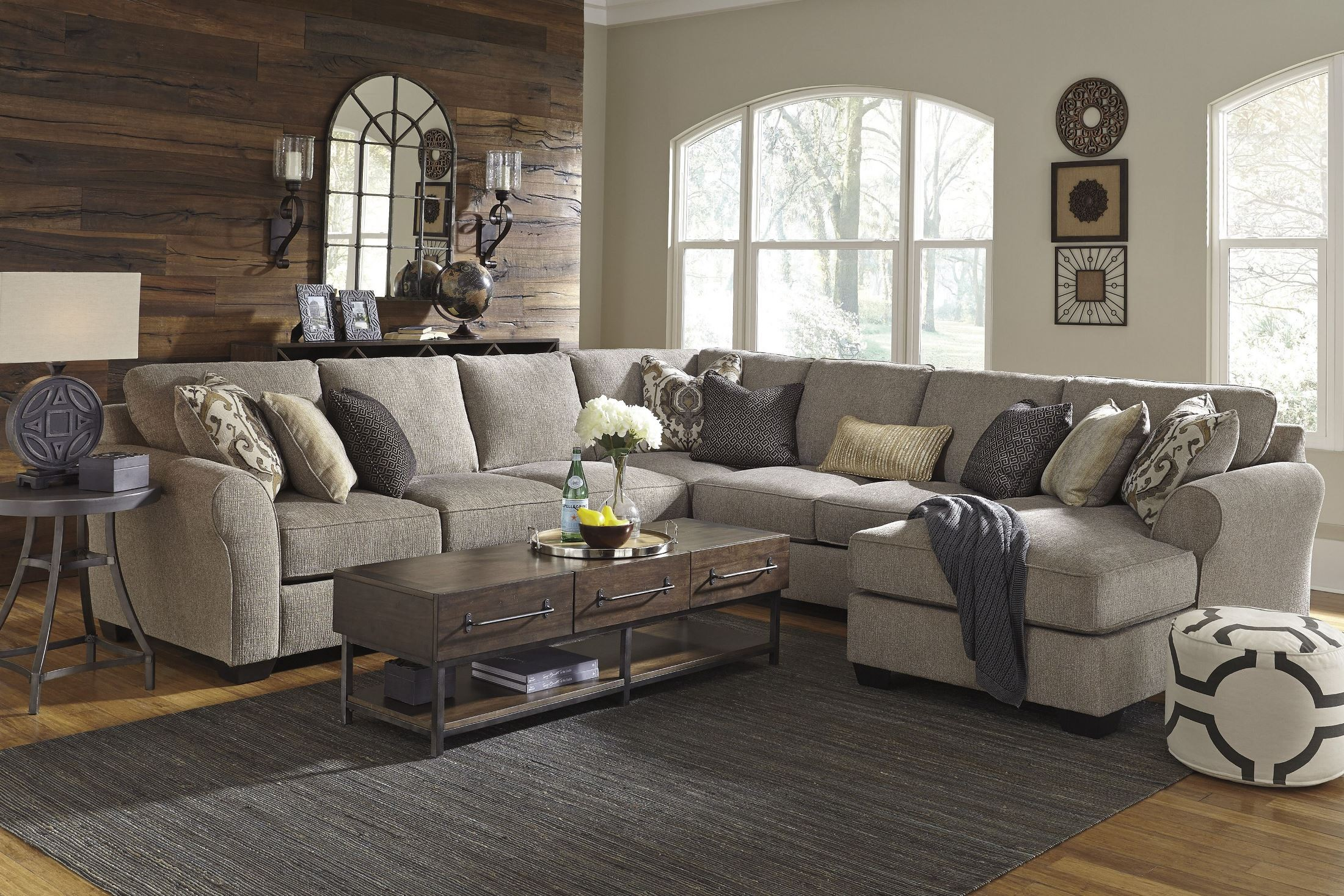 Pantomine Driftwood Raf Chaise Sectional 3910216 Ashley